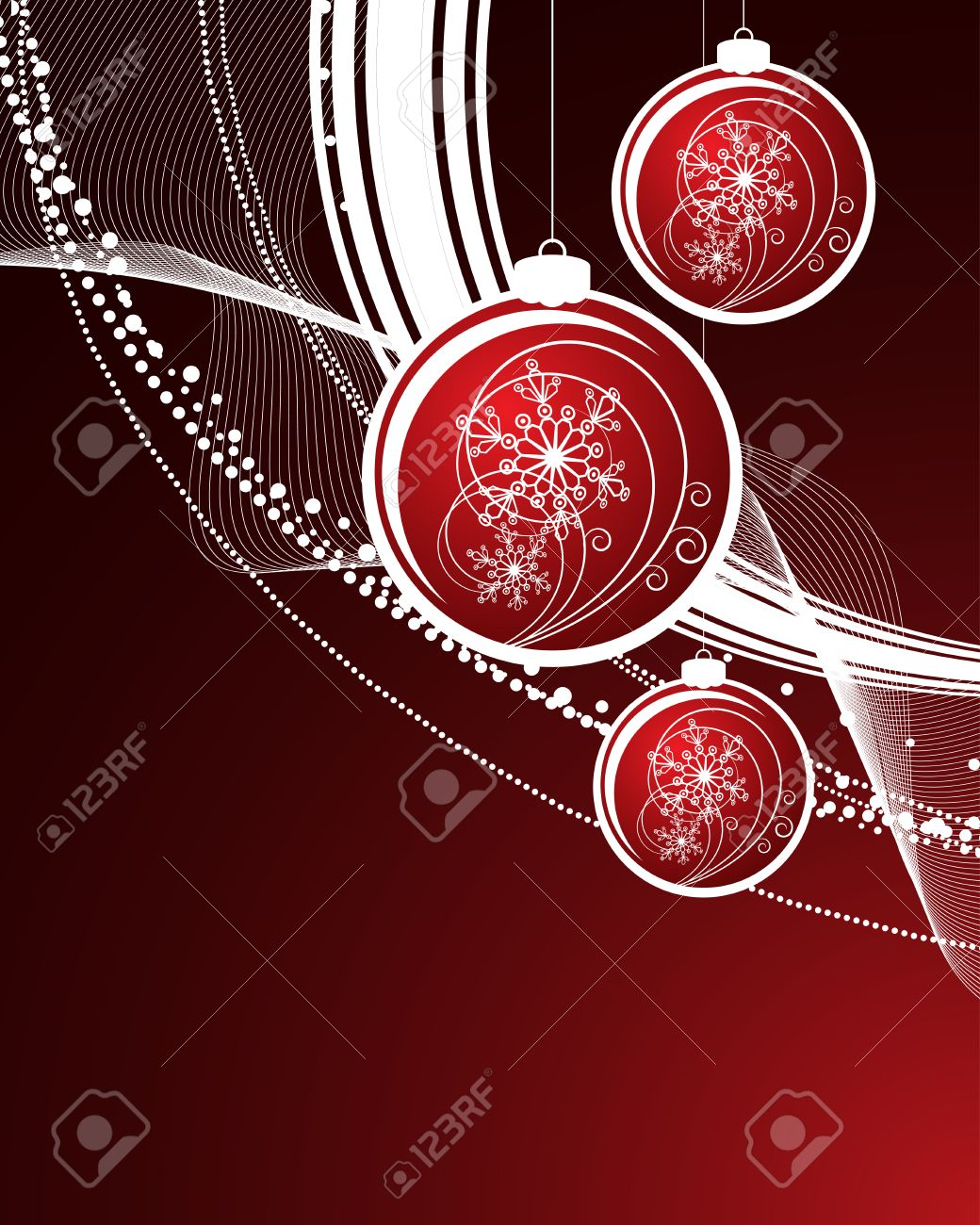 Christmas background with filigree balls Stock Vector - 5955714