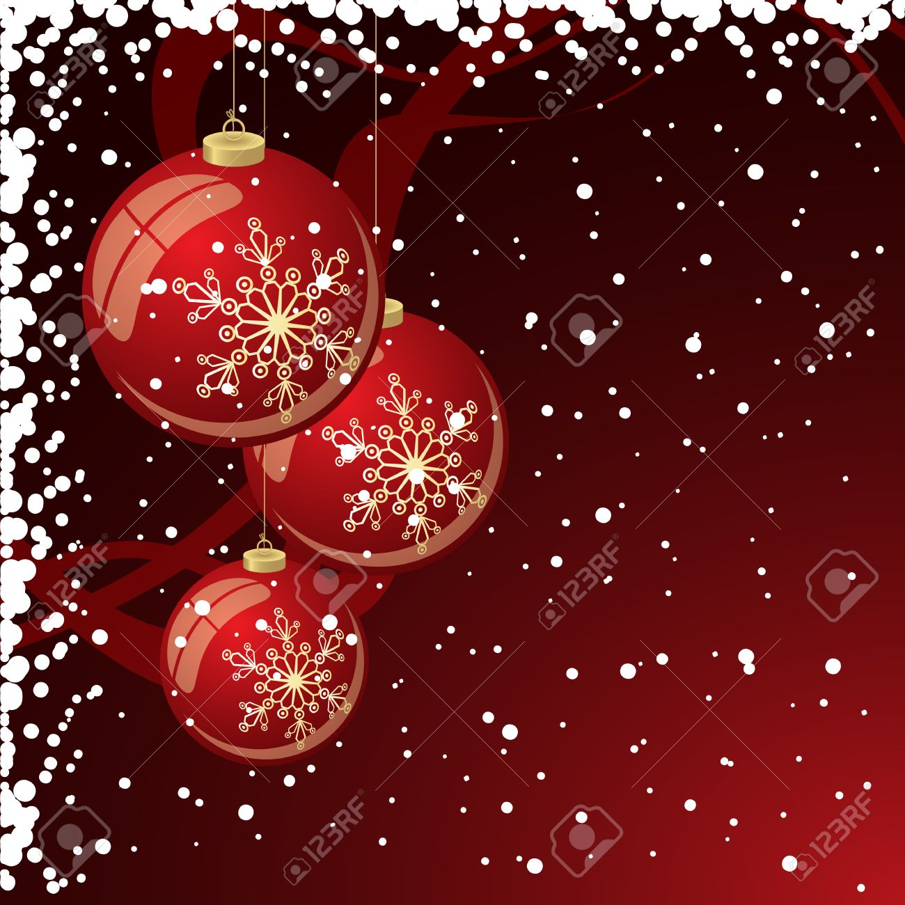 Christmas background with filigree balls Stock Vector - 5955712