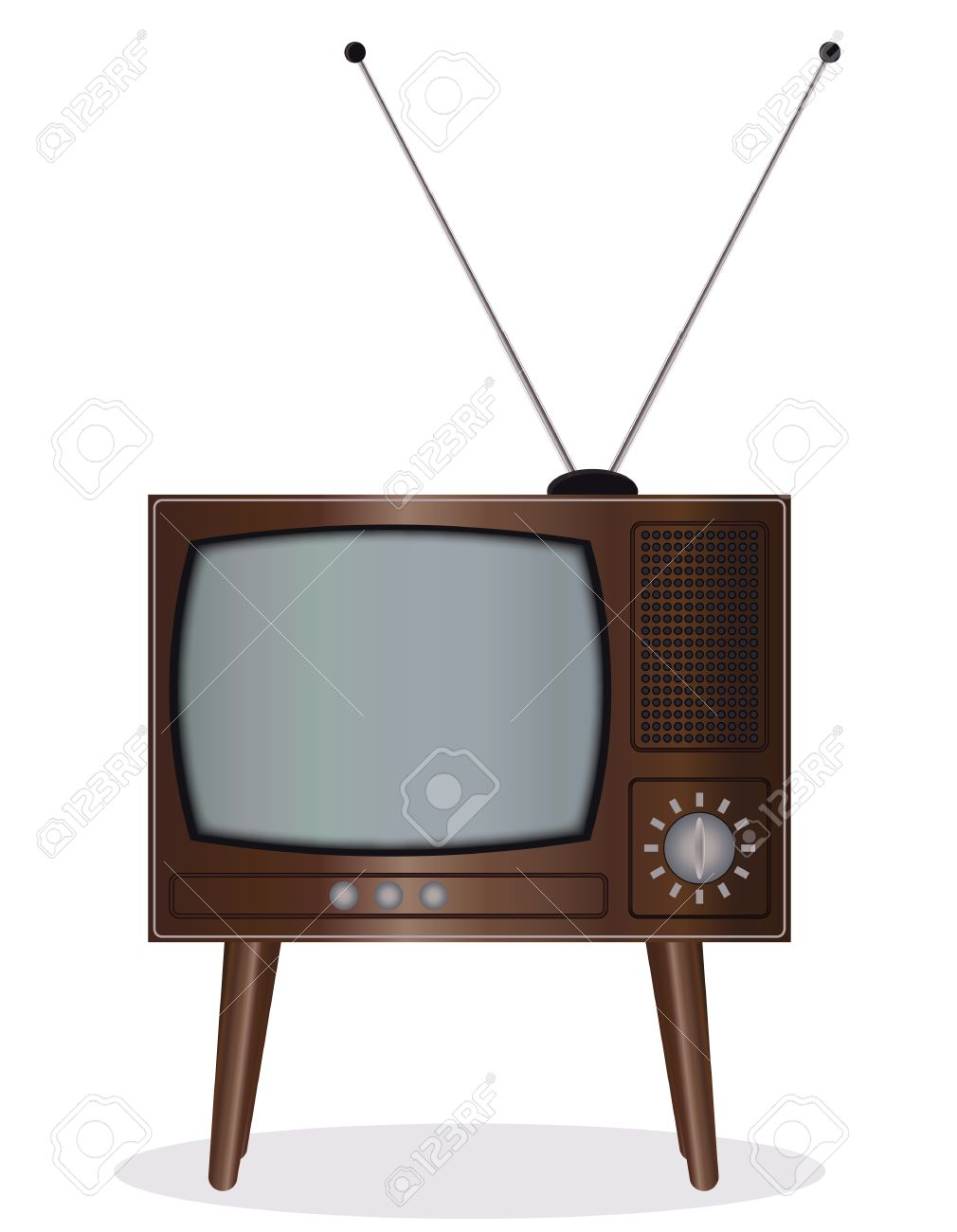 Old TV set - an illustration for your design project. Stock Vector - 7063859