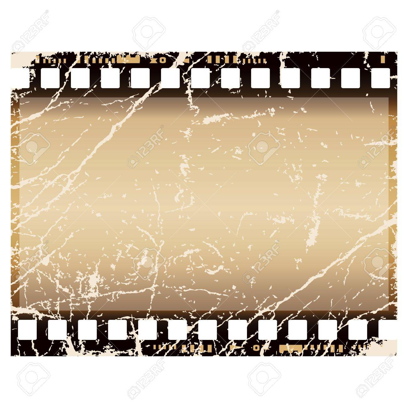 grunge film frame, isolated over white background Stock Photo - 10343699