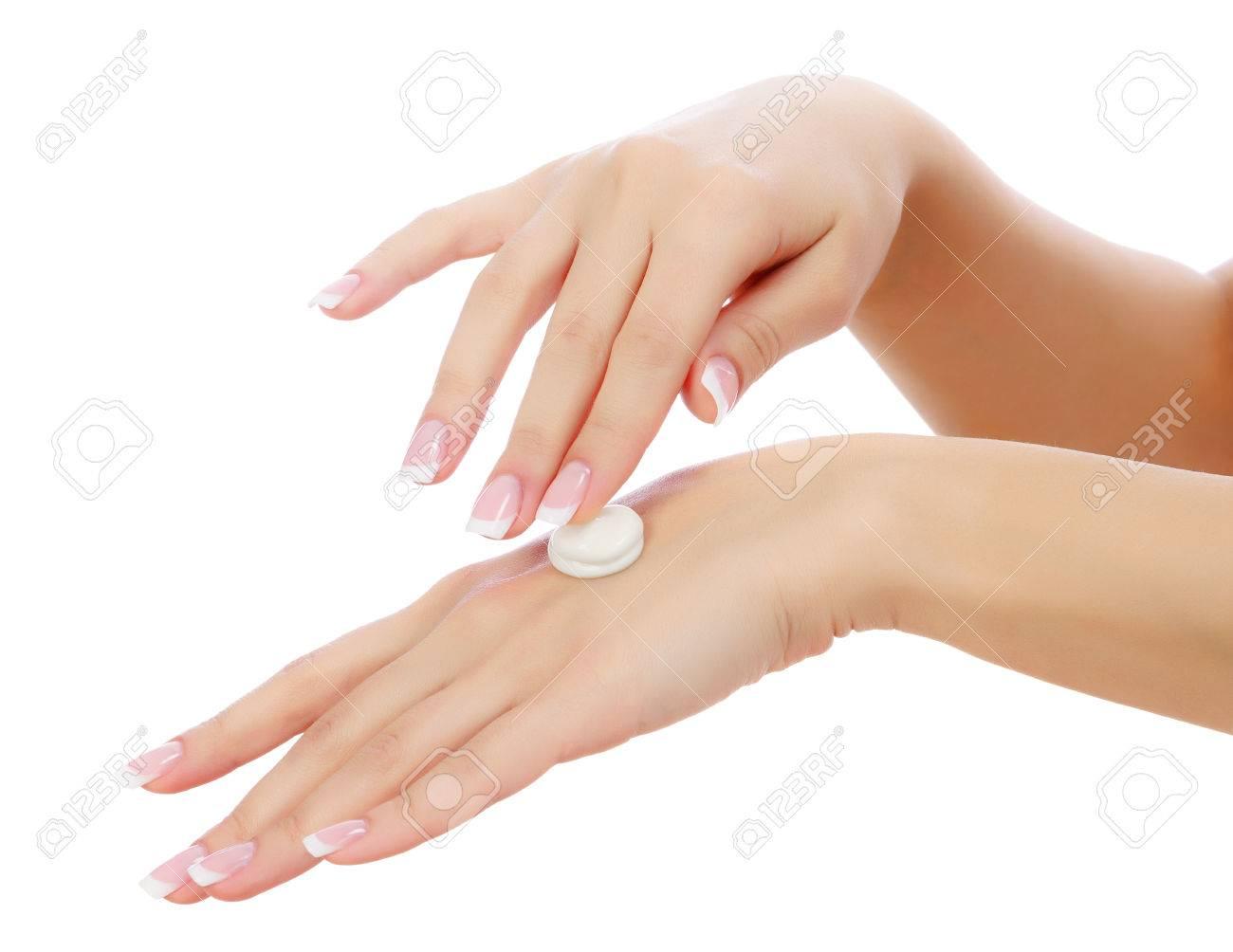 Female hands on white background Stock Photo - 24722565