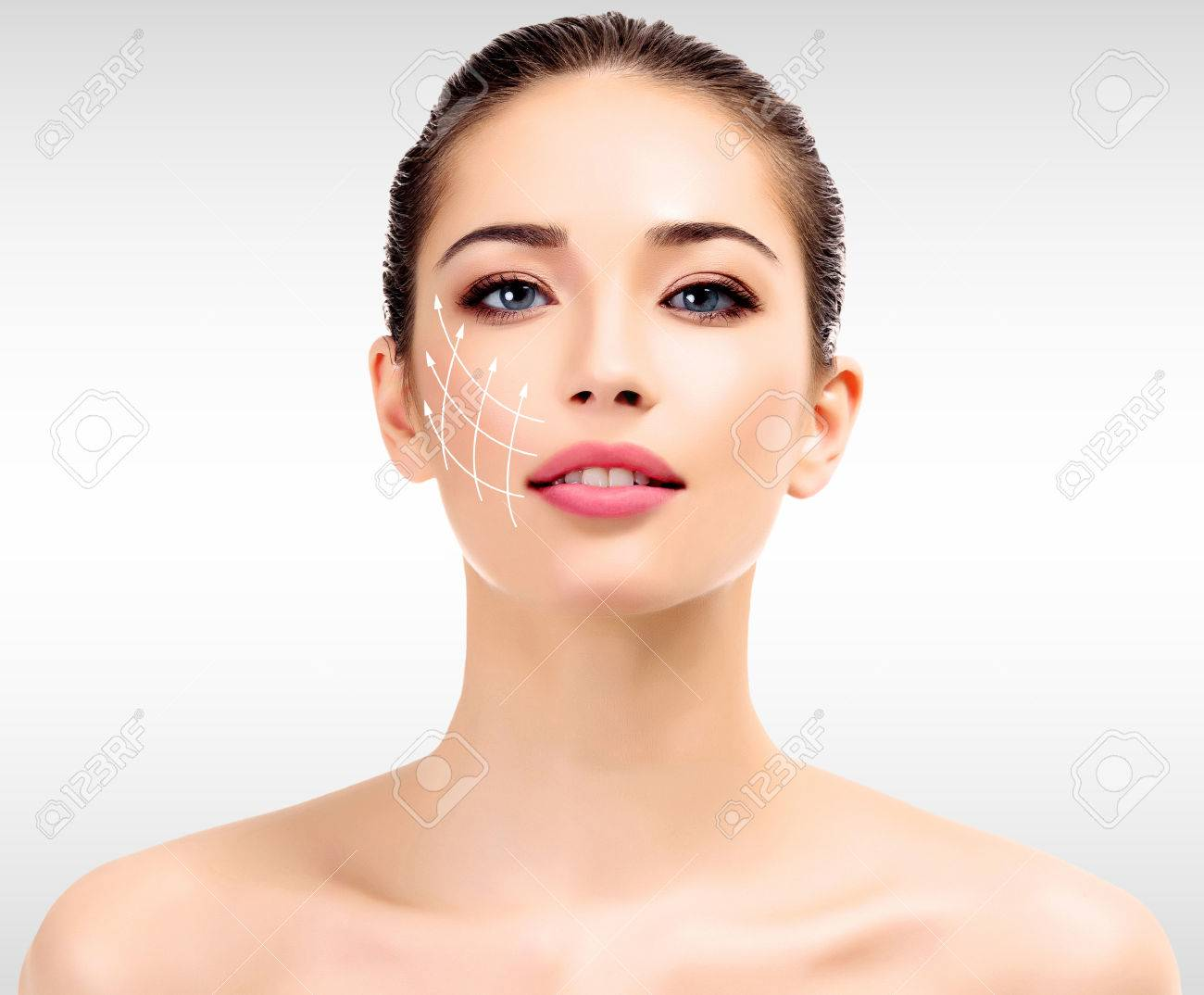Young female with clean fresh skin - 26963397