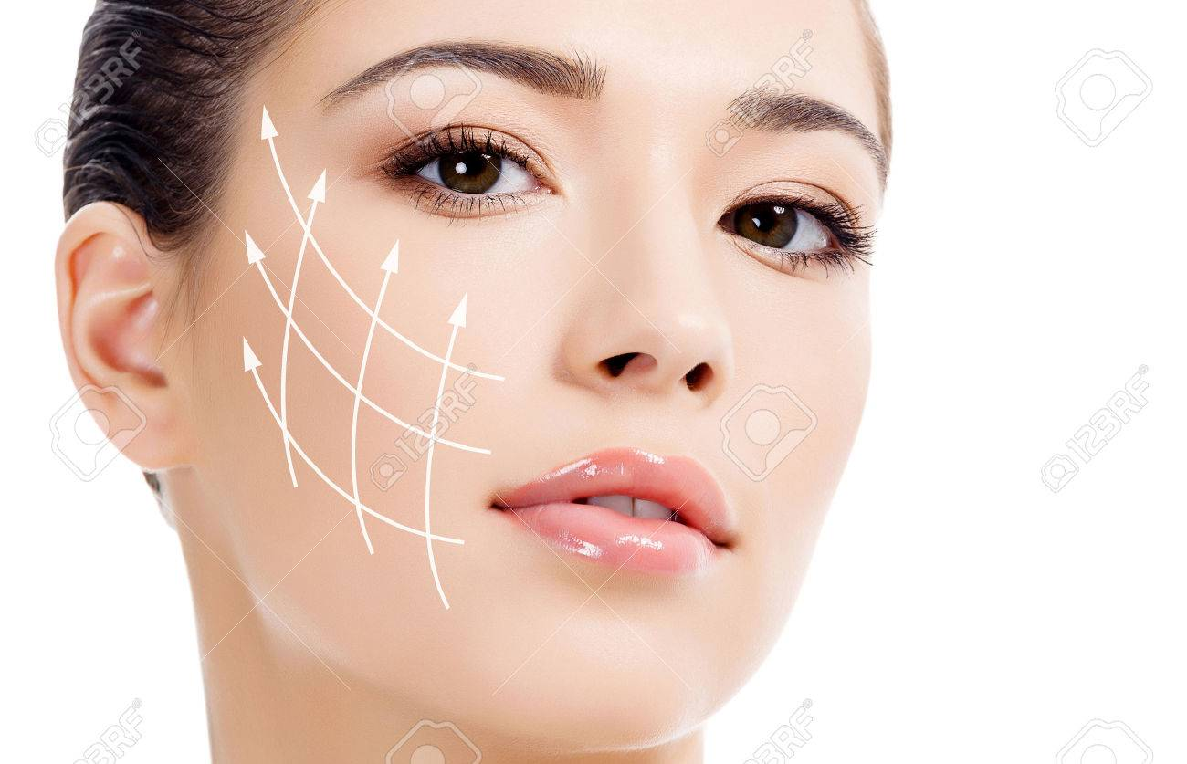 Young female with clean fresh skin, antiaging concept - 33071331