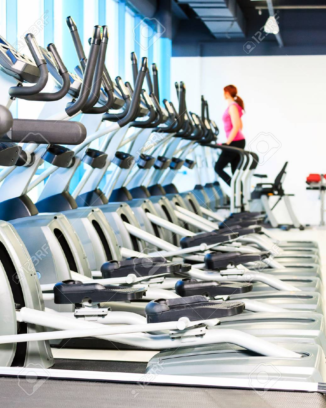 sports hall with equipment - 36963170