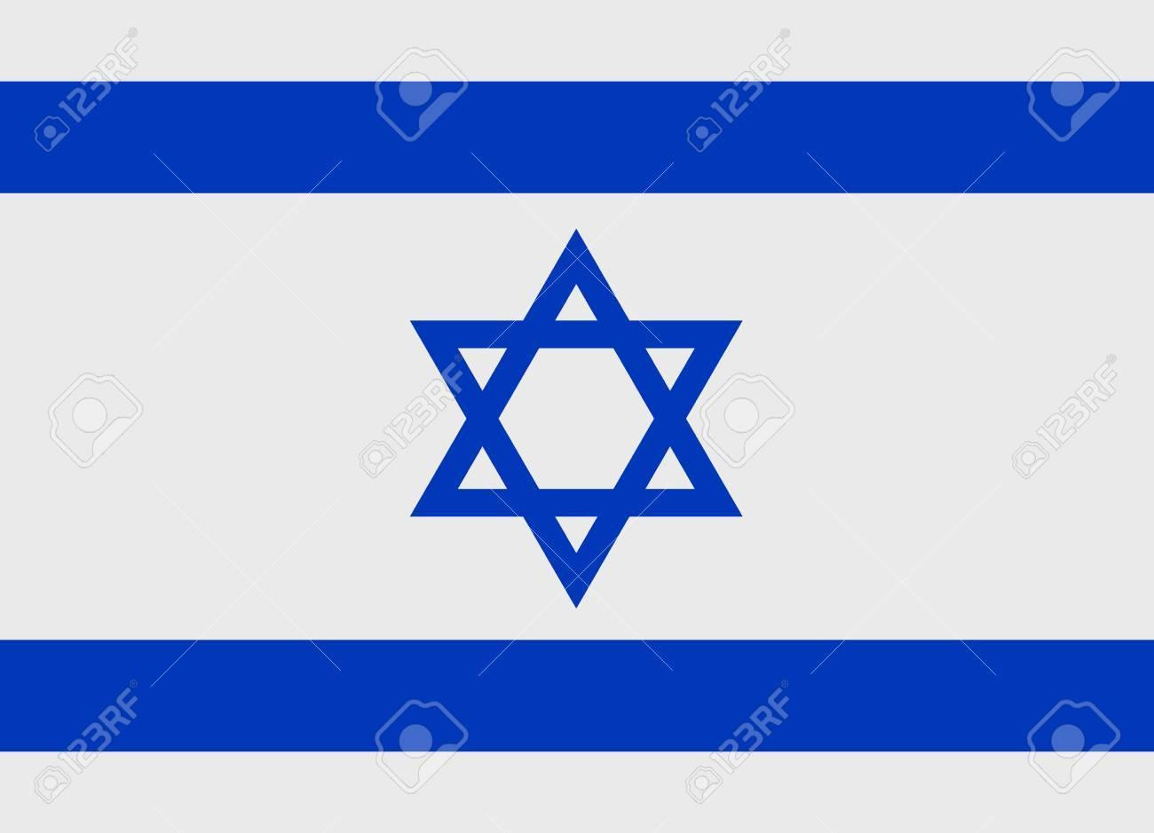 Flag of Israel vector illustration - 33968294