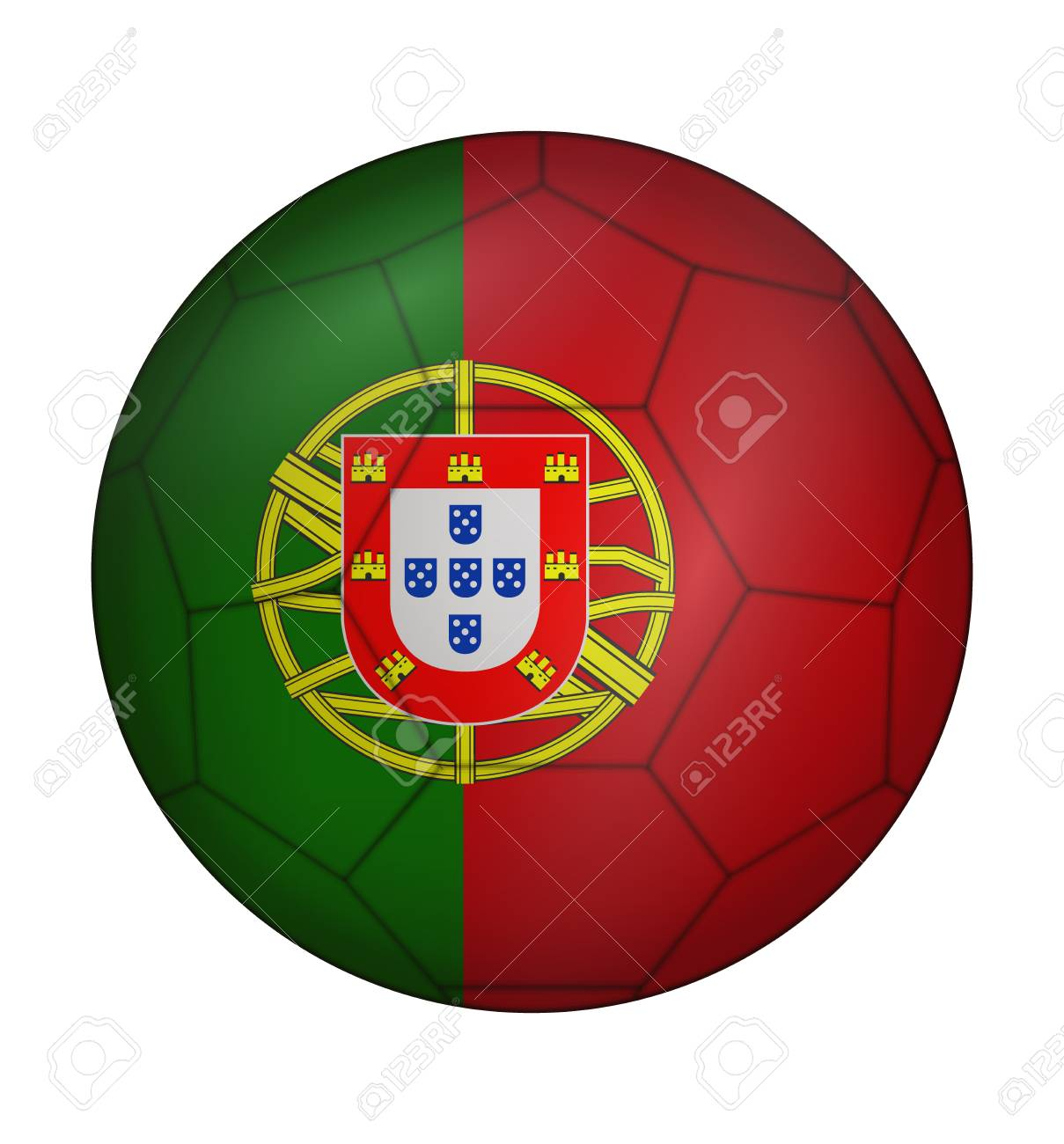 Design Soccer Ball Flag Of Portugal Royalty Free Cliparts Vectors
