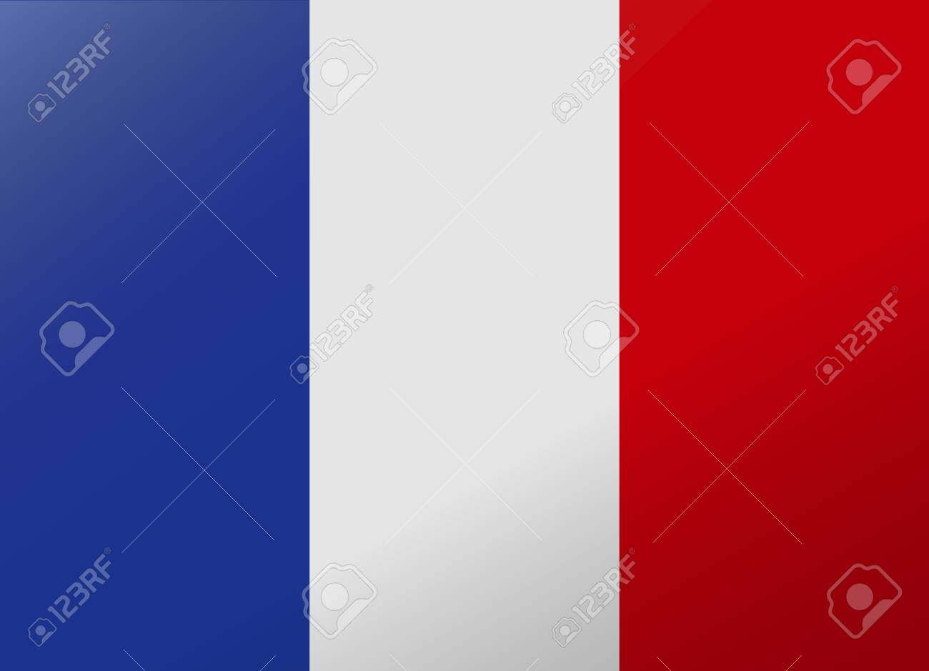 reflection flag france - 40673315