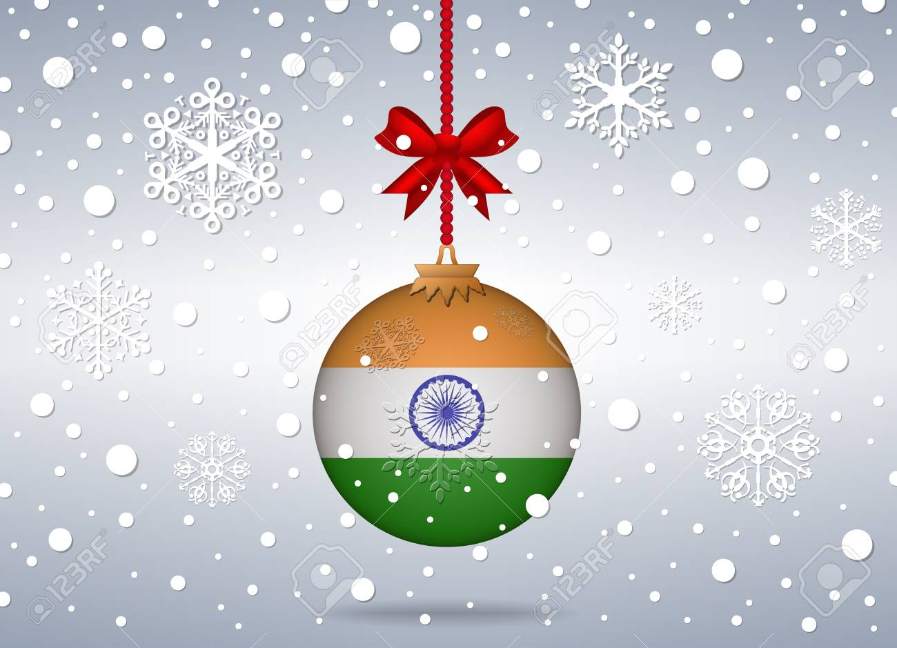 Christmas Background With India Ball Royalty Free Cliparts, Vectors ...