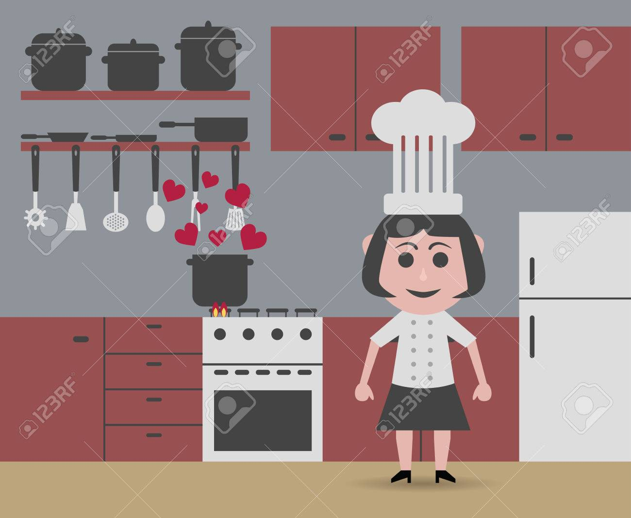 cheap chef cooking - 46667603