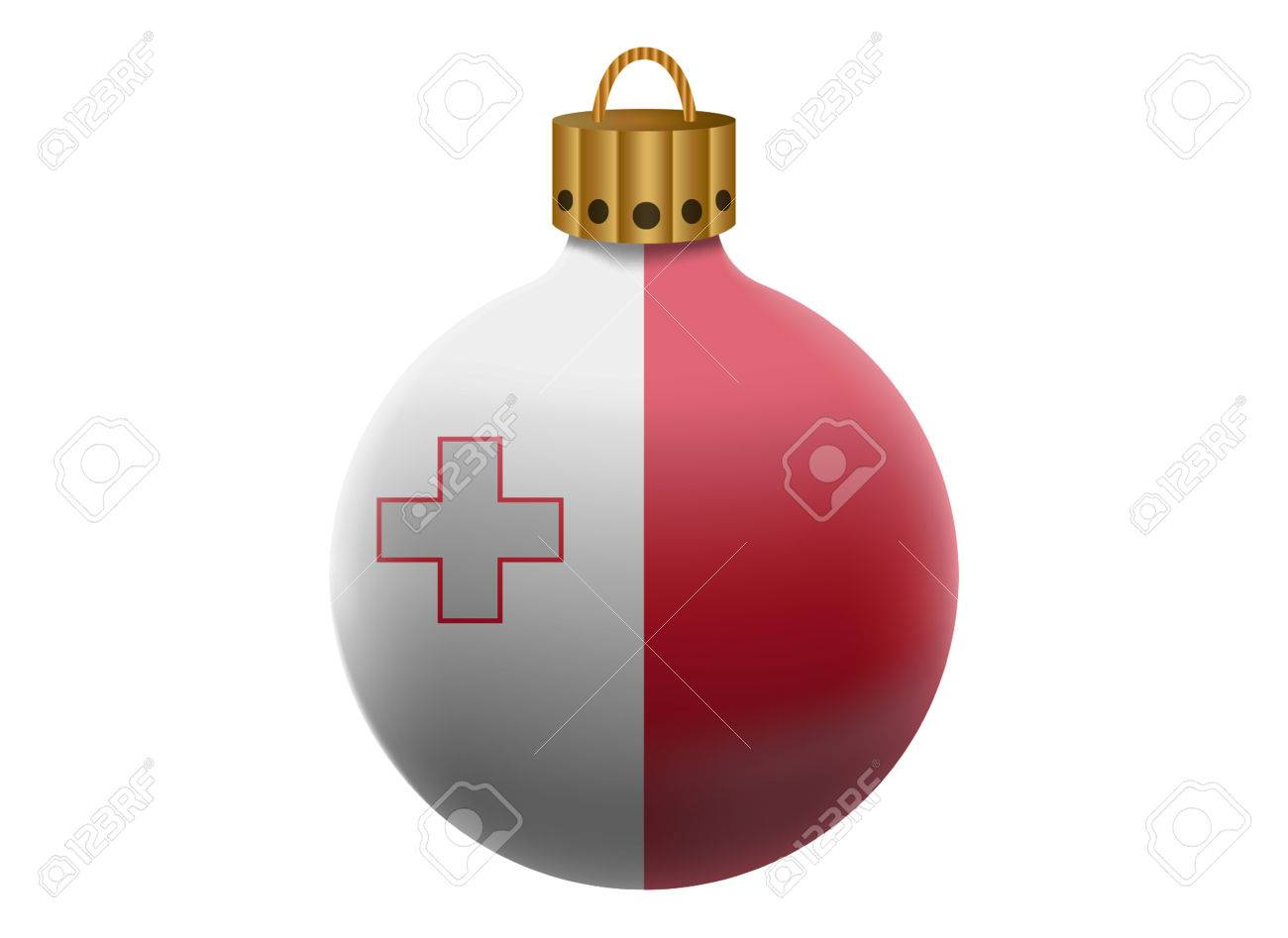 Maltese christmas ornaments - Vector Malta Christmas Ball Isolated
