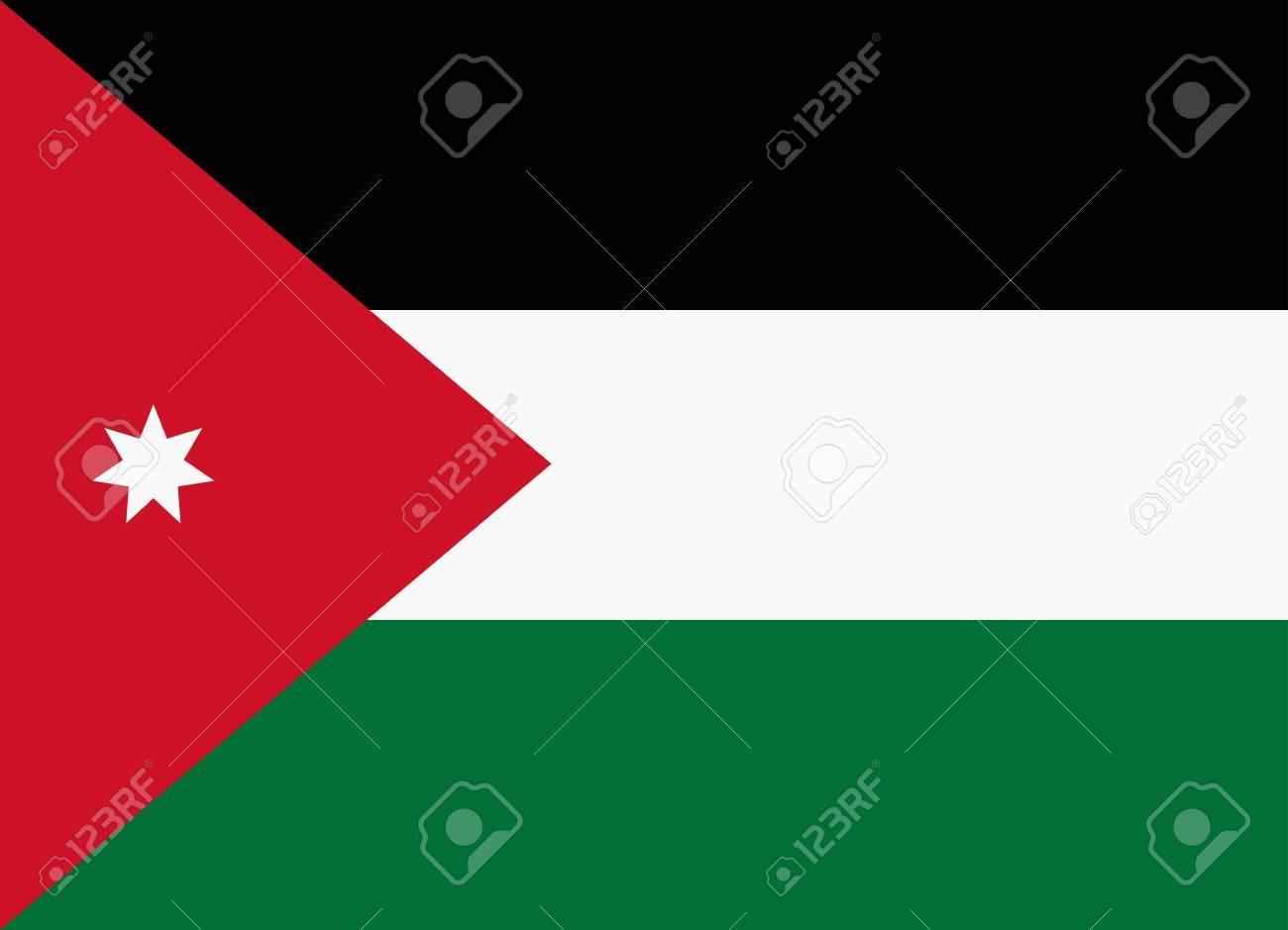 flag of jordan royalty free cliparts vectors and stock