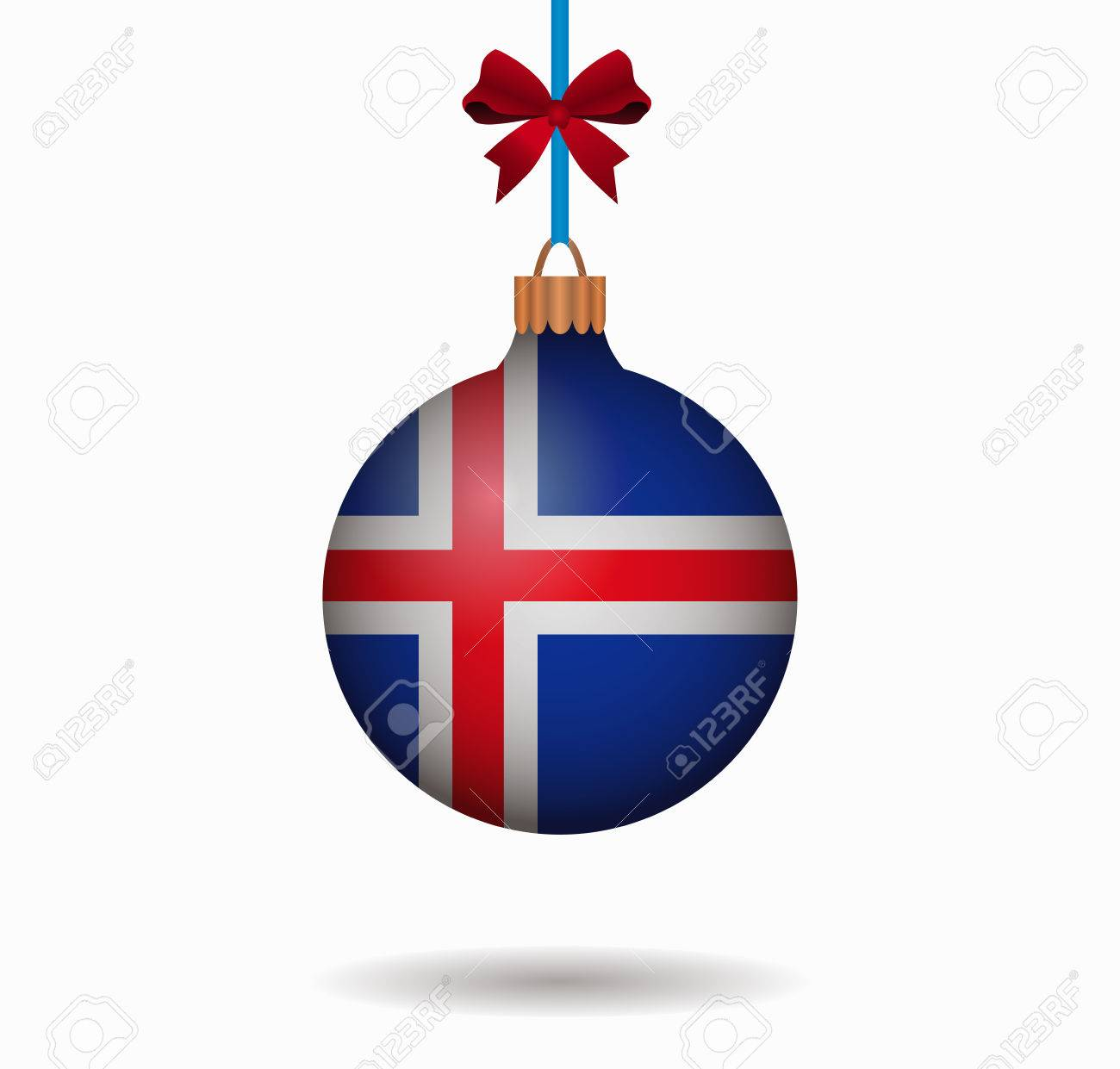 Isolated Christmas Ball Iceland Royalty Free Cliparts, Vectors, And ...