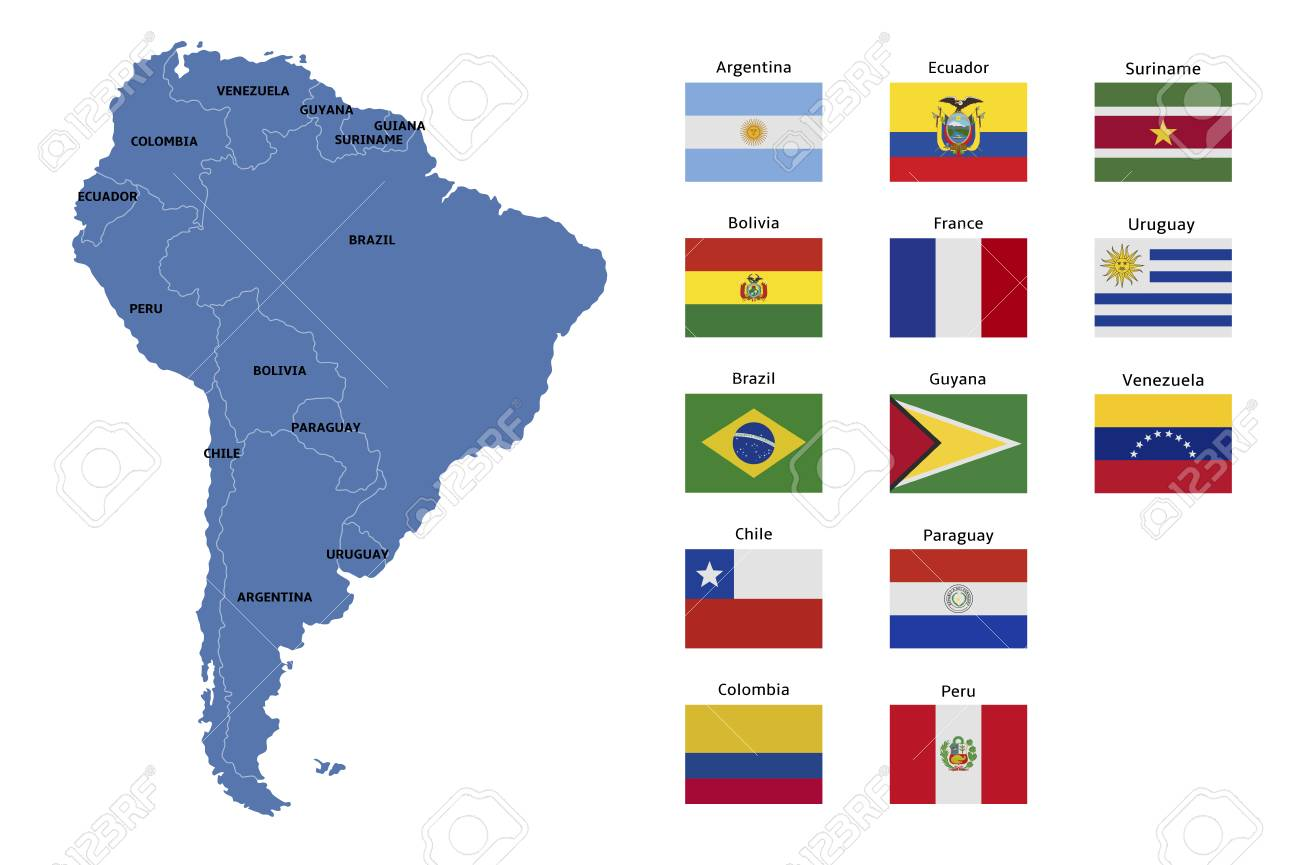 south america map and flags on map of france, map of china, map of north carolina, map of paraguay, map of bolivia, map of ecuador, map of belize, map of aruba, map of nicaragua, map of western hemisphere, map of dominican republic, map of canada, map of asia, map of europe, map of the world, map of venezuela, map of guatemala, map of germany, map of italy, map of us, map of africa, map of honduras, map of australia, map of florida, map of texas, map of mexico, map of antarctica, map of argentina, map of costa rica, map of the americas, map of georgia, map of usa, map of united states, map of middle east, map of bahamas, map of guyana, map of caribbean,