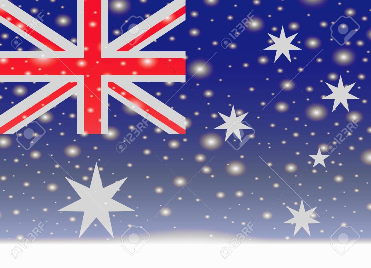 Christmas In Australia Background.Australia Flag On Christmas Background