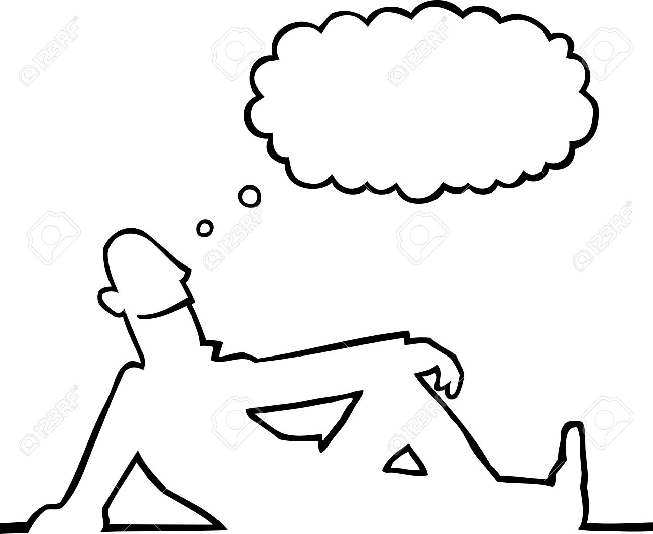 Person Daydreaming Royalty Free Cliparts Vectors And Stock