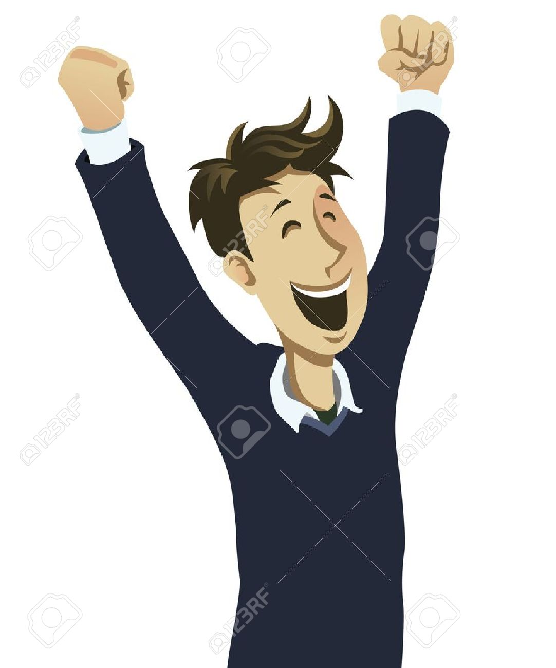 Happy guy cheering - 12225268