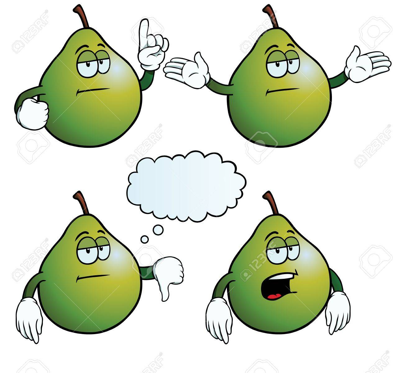 Bored pear set Stock Vector - 18663451