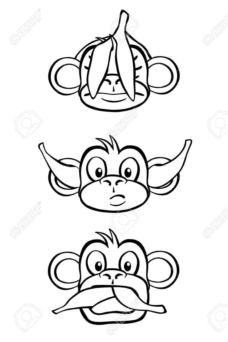 Three Wise Monkeys Drawings of The Three Wise Monkeys