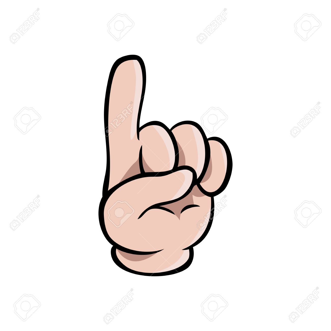 human cartoon hand showing one finger or pointing upwards royalty free cliparts vectors and stock illustration image 73532736 human cartoon hand showing one finger or pointing upwards