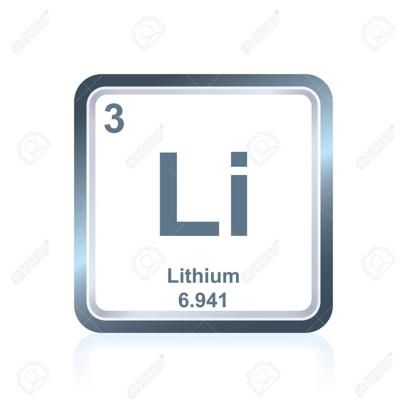 Symbol of chemical element lithium as seen on the periodic table symbol of chemical element lithium as seen on the periodic table of the elements including urtaz Gallery