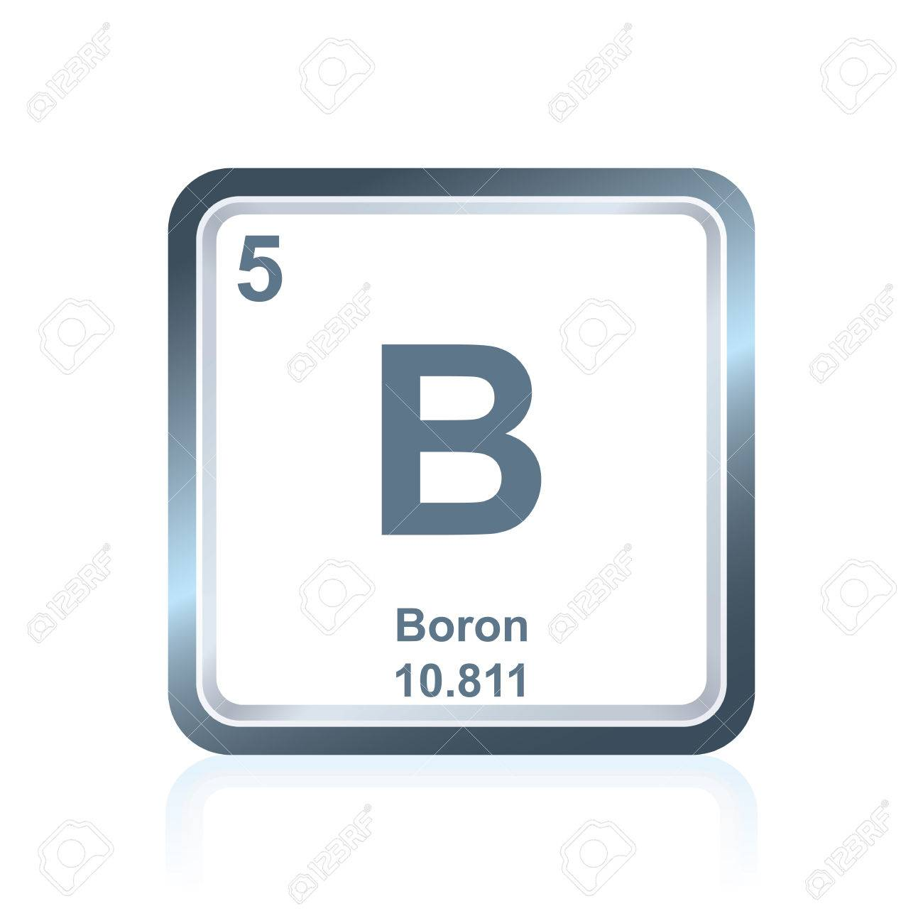Symbol Of Chemical Element Boron As Seen On The Periodic Table
