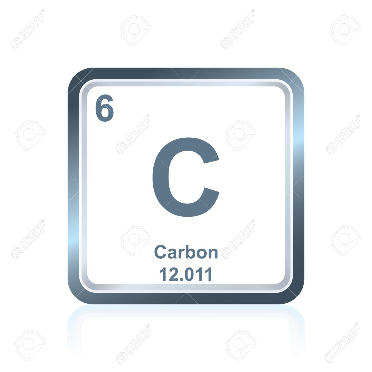 Symbol of chemical element carbon as seen on the periodic table symbol of chemical element carbon as seen on the periodic table of the elements including urtaz Gallery