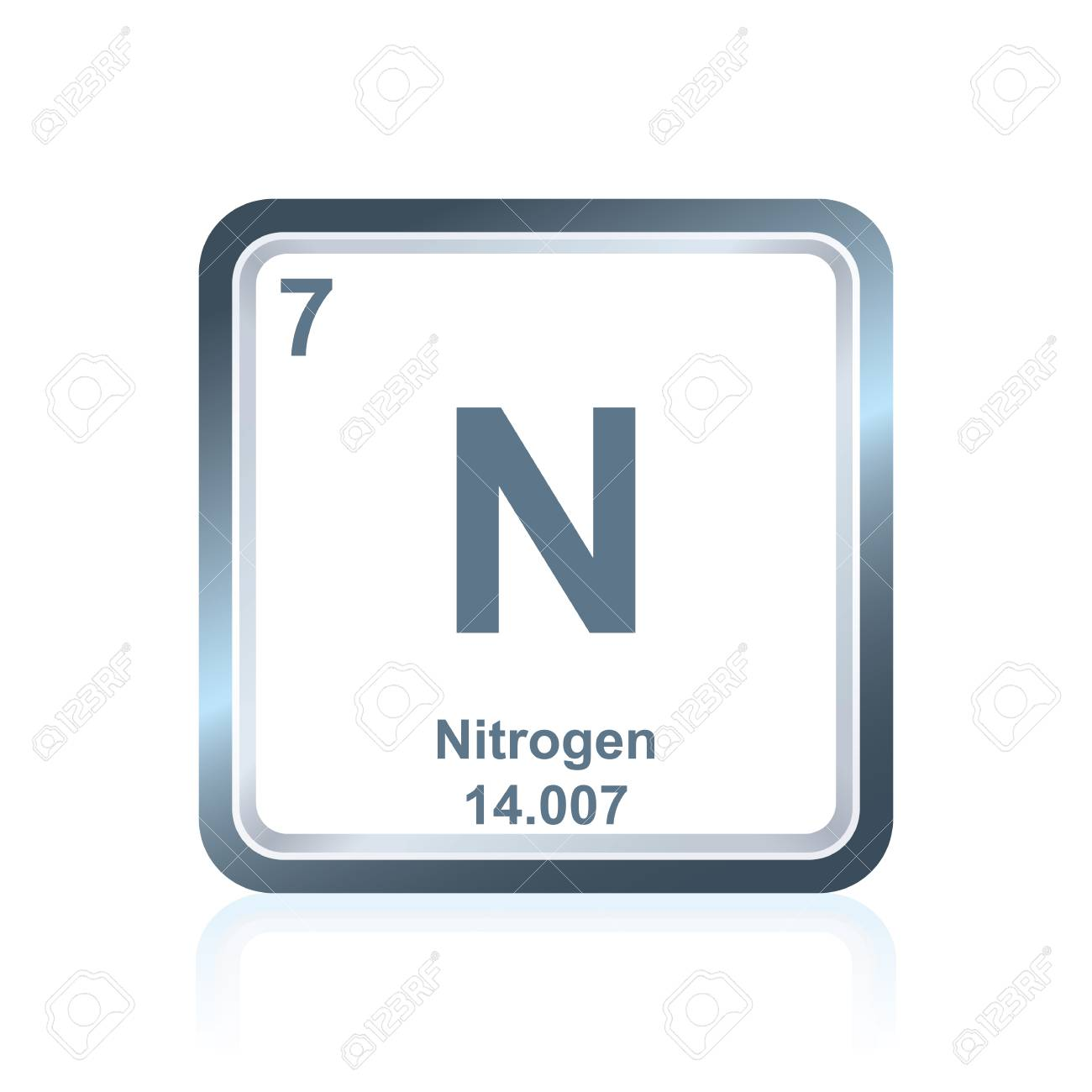 Symbol of chemical element nitrogen as seen on the periodic table symbol of chemical element nitrogen as seen on the periodic table of the elements including urtaz