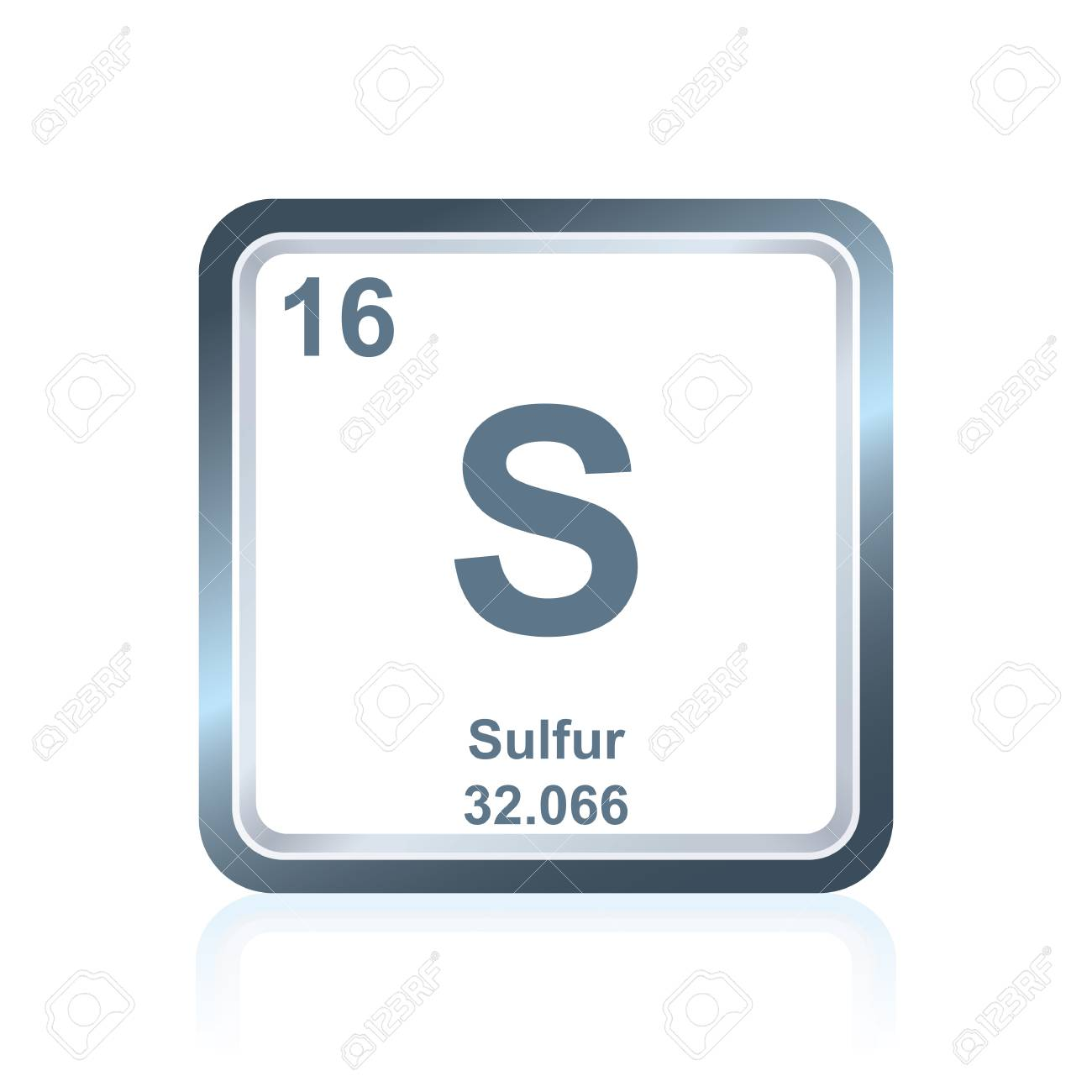 Symbol of chemical element sulfur as seen on the periodic table symbol of chemical element sulfur as seen on the periodic table of the elements including buycottarizona Image collections
