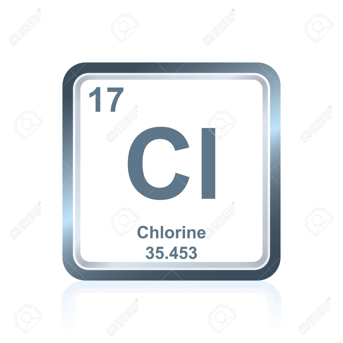 Symbol of chemical element chlorine as seen on the periodic table symbol of chemical element chlorine as seen on the periodic table of the elements including urtaz Images