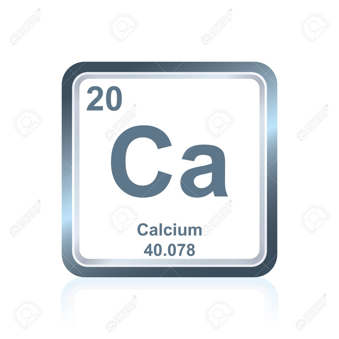 Symbol of chemical element calcium as seen on the periodic table symbol of chemical element calcium as seen on the periodic table of the elements including urtaz Gallery