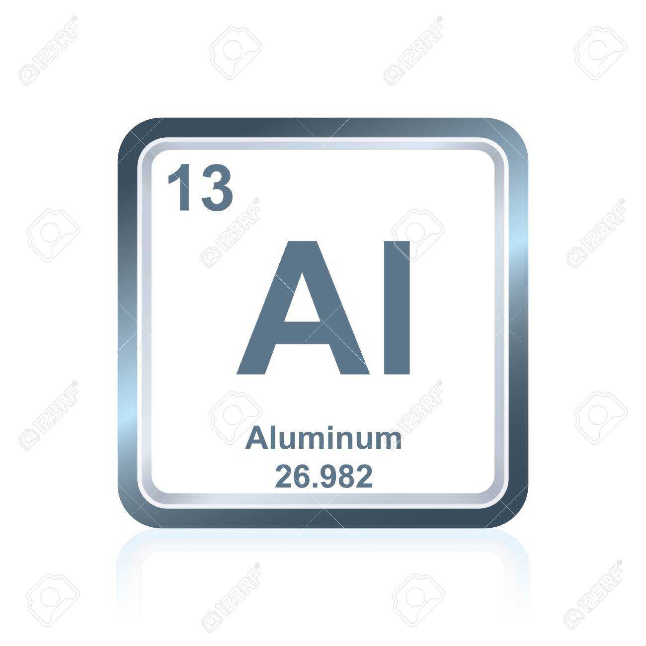 Symbol Of Chemical Element Aluminum As Seen On The Periodic Table