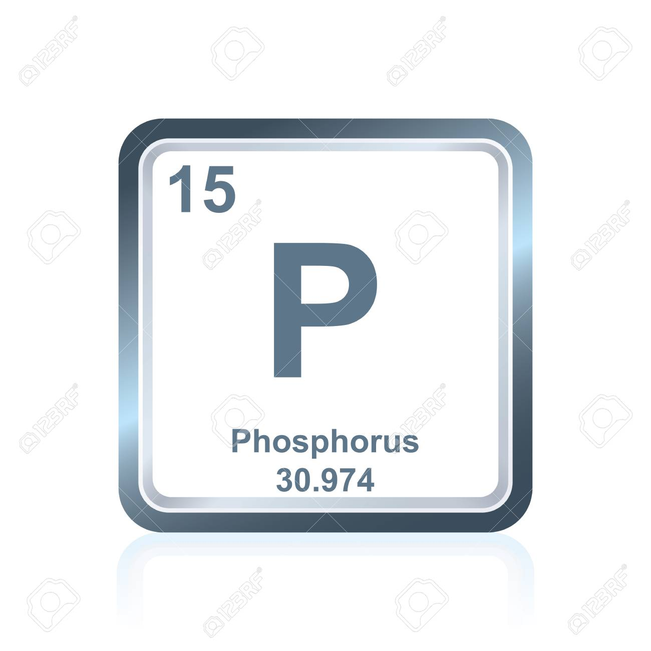 Symbol Of Chemical Element Phosphorus As Seen On The Periodic