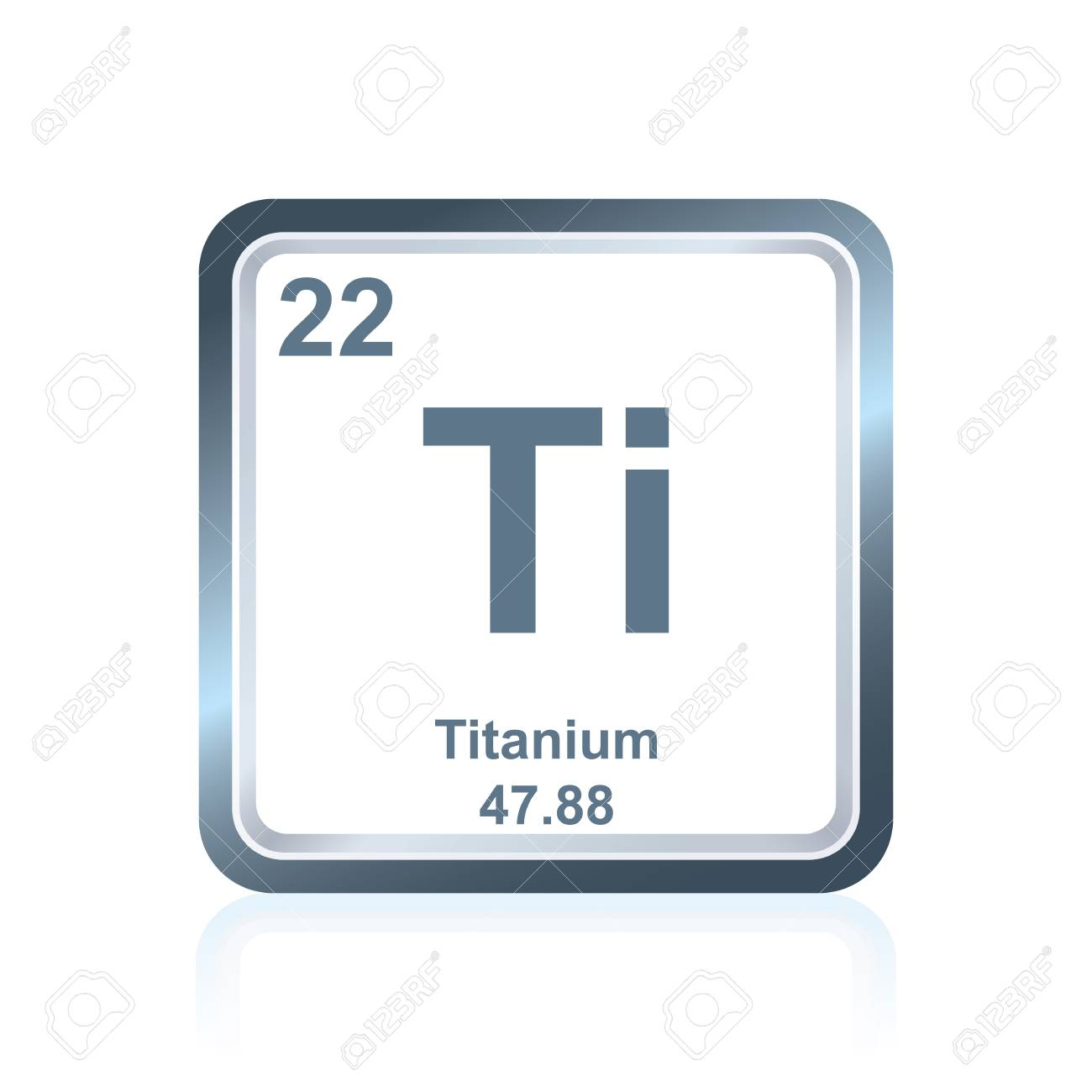 Symbol of chemical element titanium as seen on the periodic table symbol of chemical element titanium as seen on the periodic table of the elements including urtaz Gallery