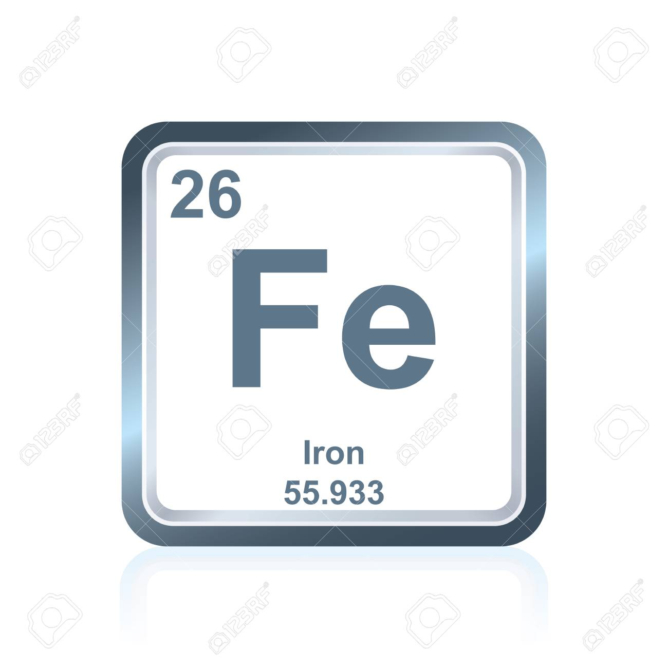 Symbol of chemical element iron as seen on the periodic table symbol of chemical element iron as seen on the periodic table of the elements including urtaz Choice Image
