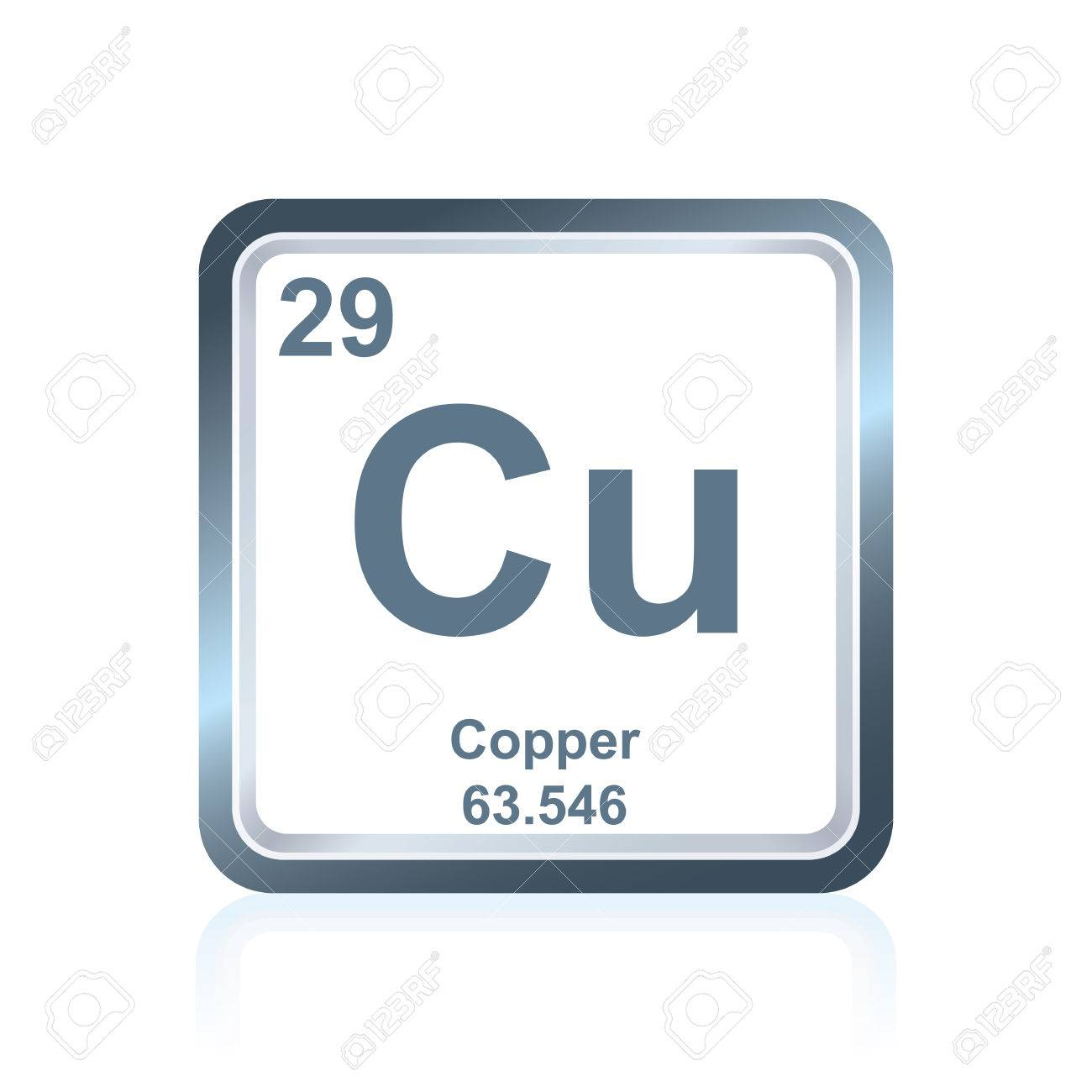 symbol of chemical element copper as seen on the periodic table of the elements including - Periodic Table Copper Symbol