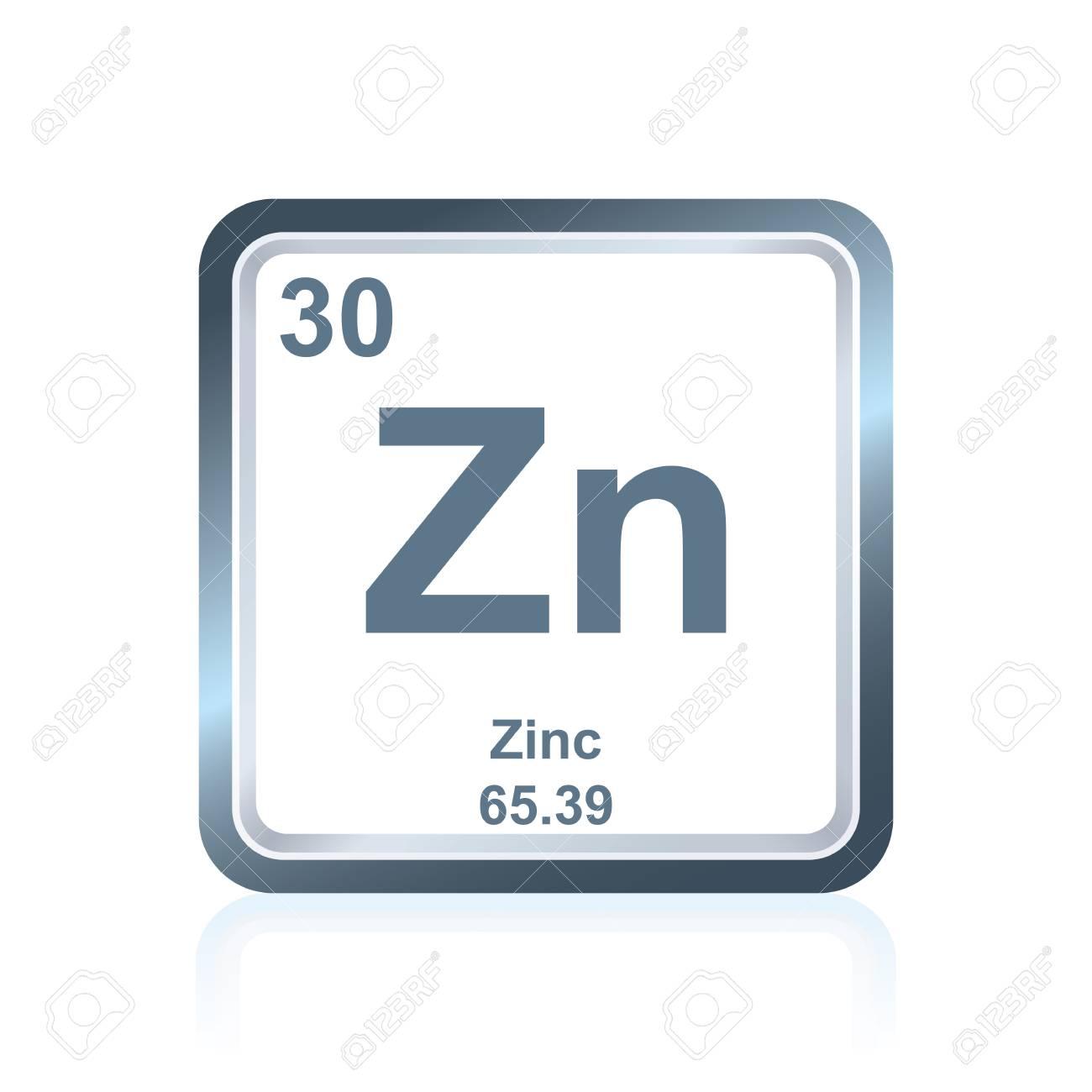 Smbolo del elemento qumico zinc como se ve en la tabla peridica foto de archivo smbolo del elemento qumico zinc como se ve en la tabla peridica de los elementos incluido el nmero atmico y el peso atmico urtaz Images