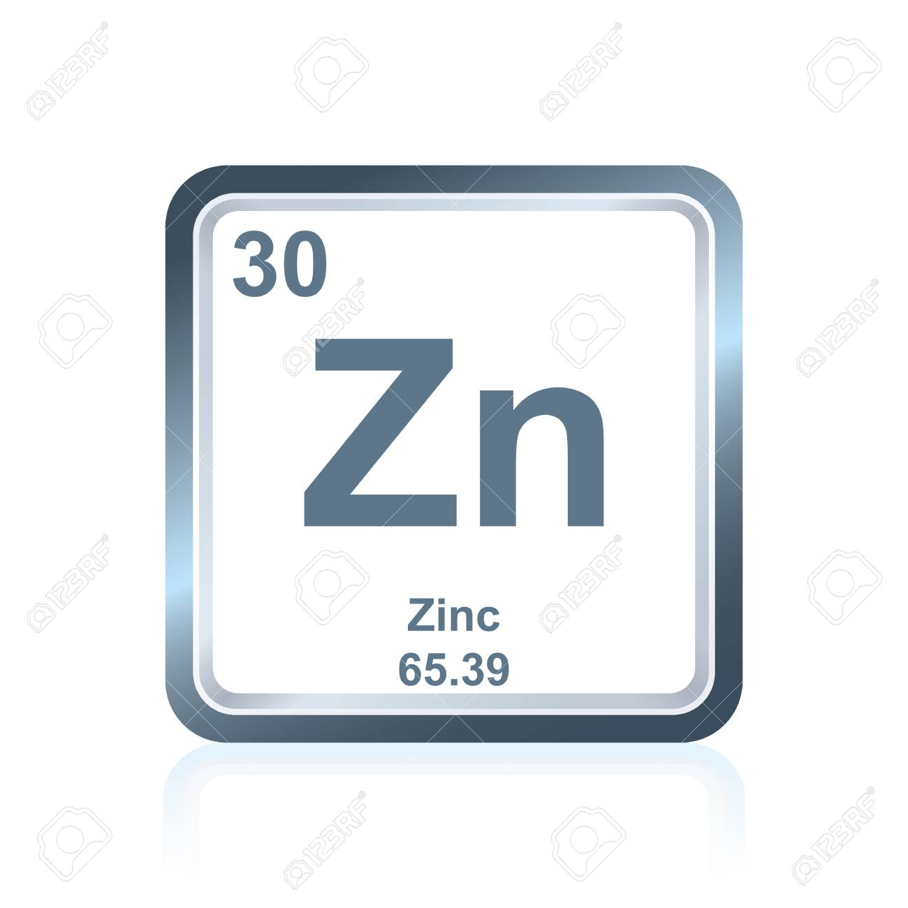 Symbol of chemical element zinc as seen on the periodic table symbol of chemical element zinc as seen on the periodic table of the elements including buycottarizona Gallery