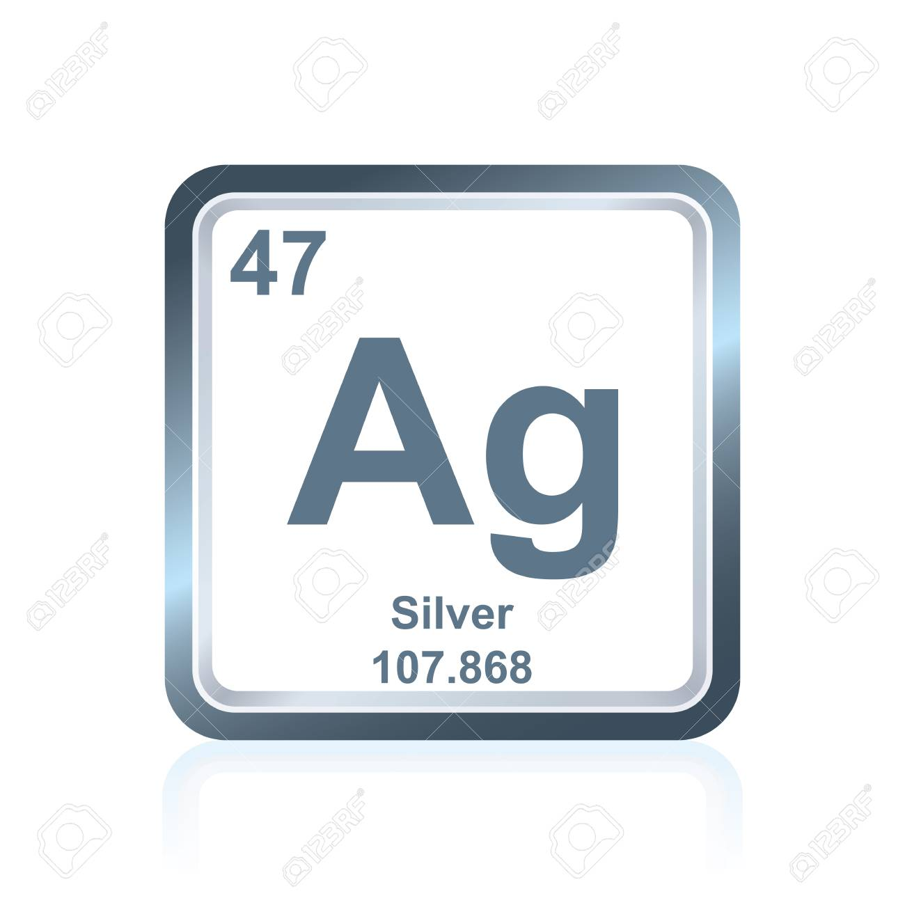 Symbol Of Chemical Element Silver As Seen On The Periodic Table