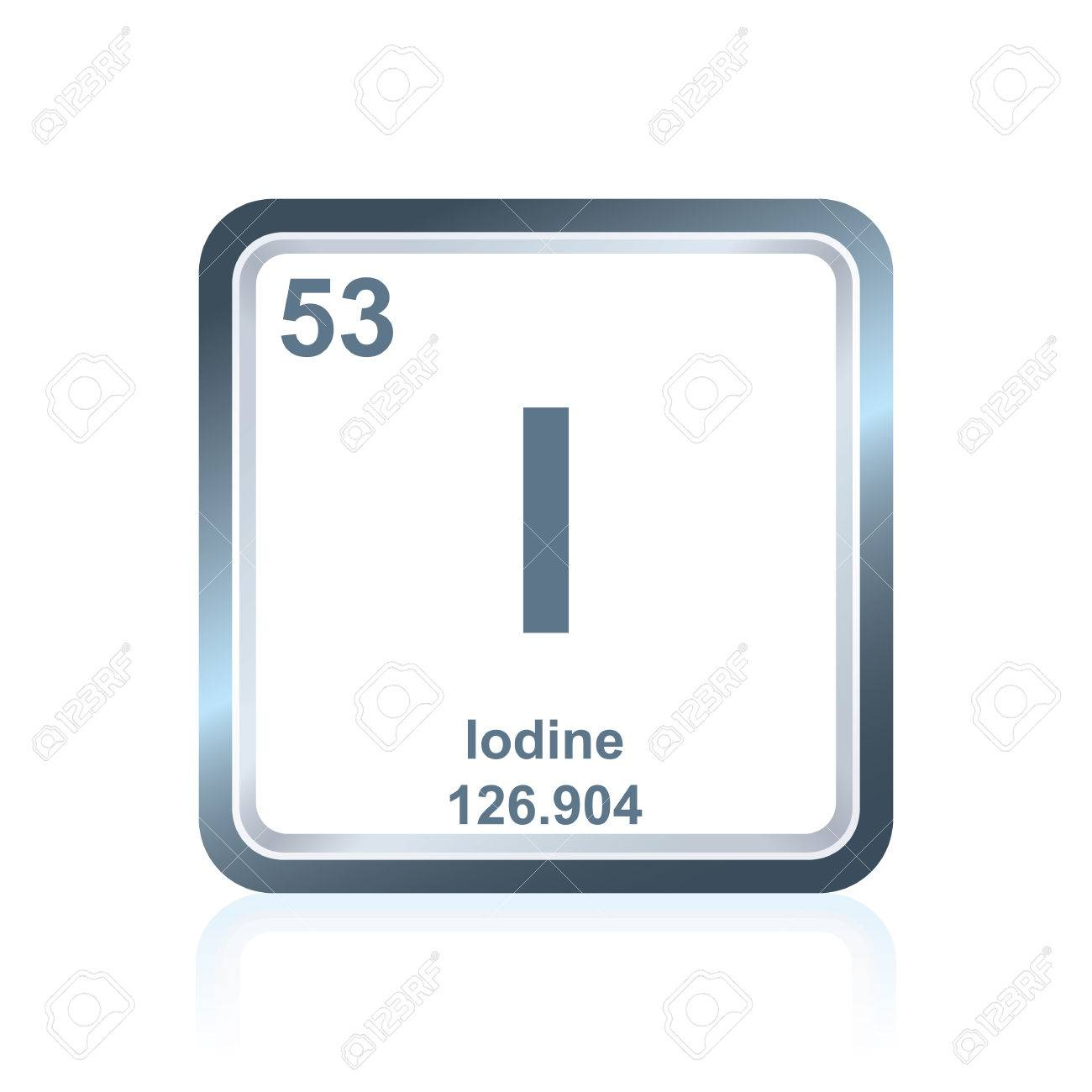 Symbol of chemical element iodine as seen on the periodic table symbol of chemical element iodine as seen on the periodic table of the elements including gamestrikefo Gallery