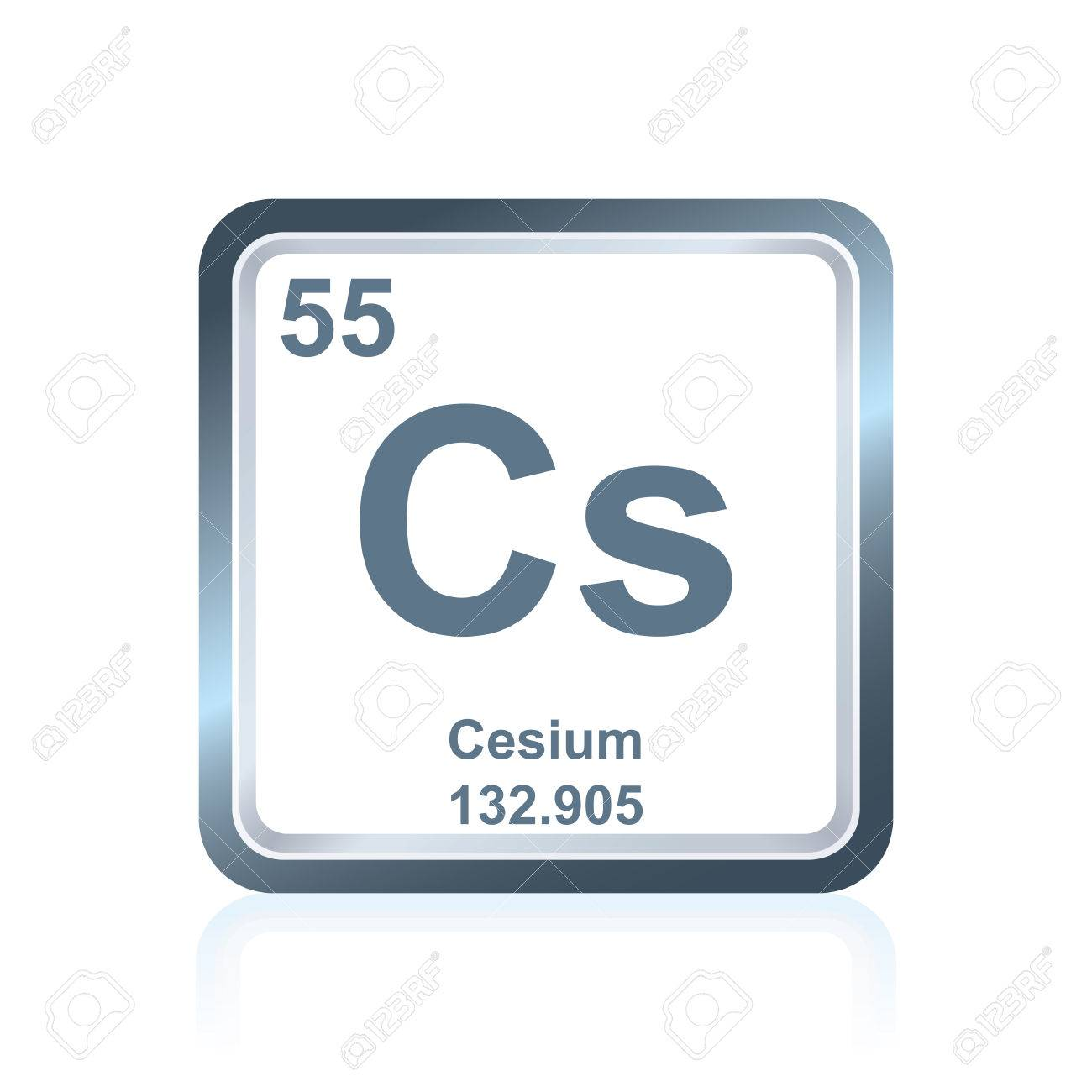 Symbol of chemical element cesium as seen on the periodic table symbol of chemical element cesium as seen on the periodic table of the elements including urtaz Gallery
