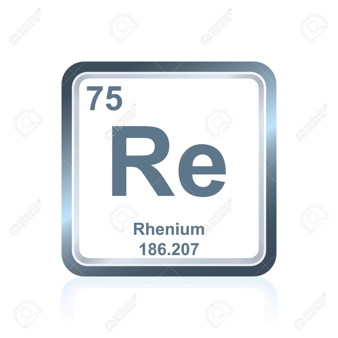 Symbol Of Chemical Element Rhenium As Seen On The Periodic Table
