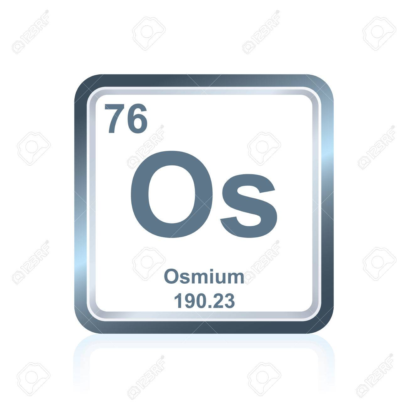 Symbol of chemical element osmium as seen on the periodic table symbol of chemical element osmium as seen on the periodic table of the elements including urtaz Gallery