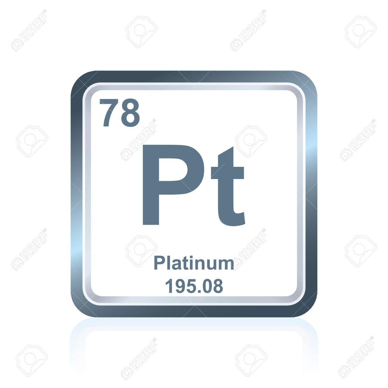 Symbol Of Chemical Element Platinum As Seen On The Periodic Table