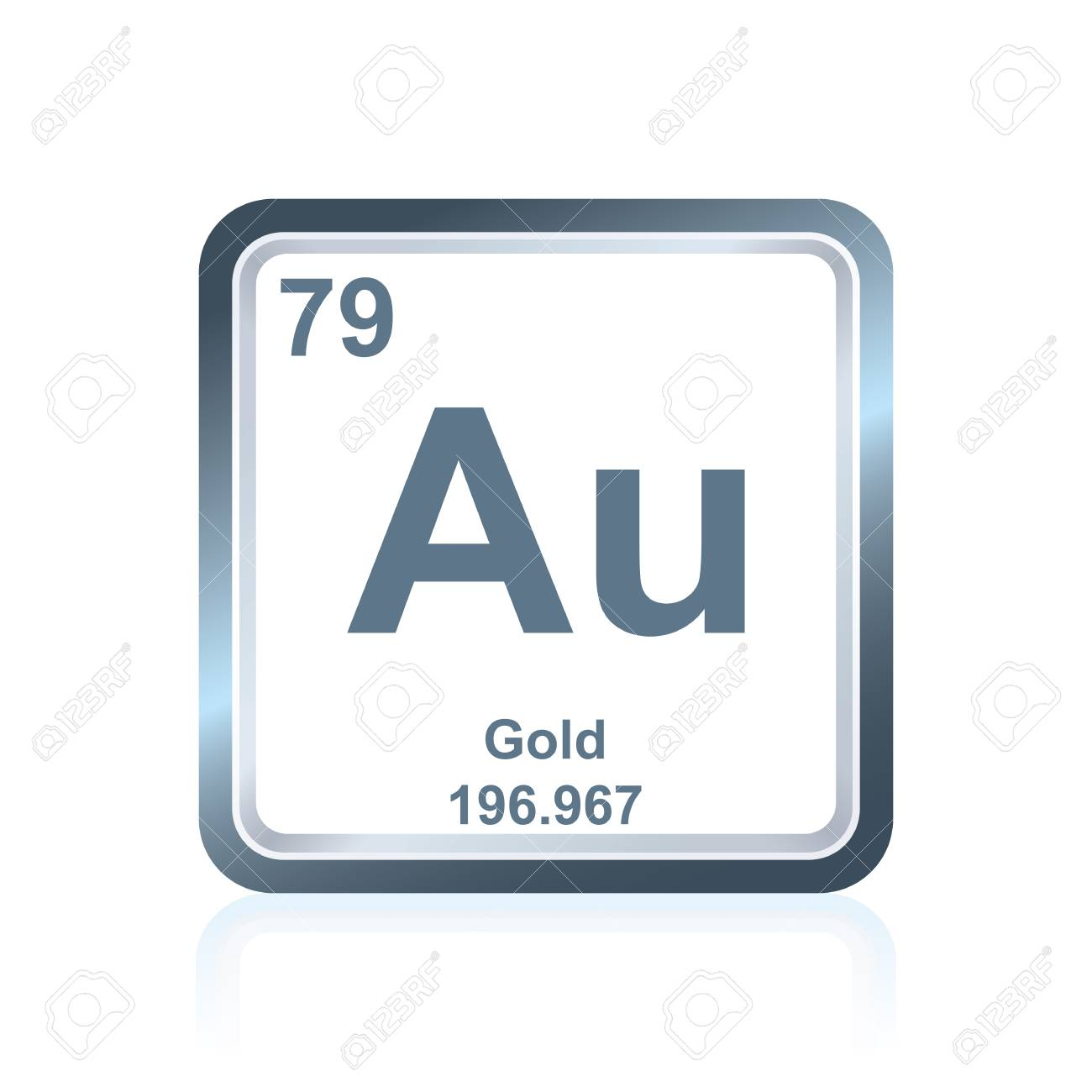 Symbol of chemical element gold as seen on the periodic table symbol of chemical element gold as seen on the periodic table of the elements including urtaz Image collections