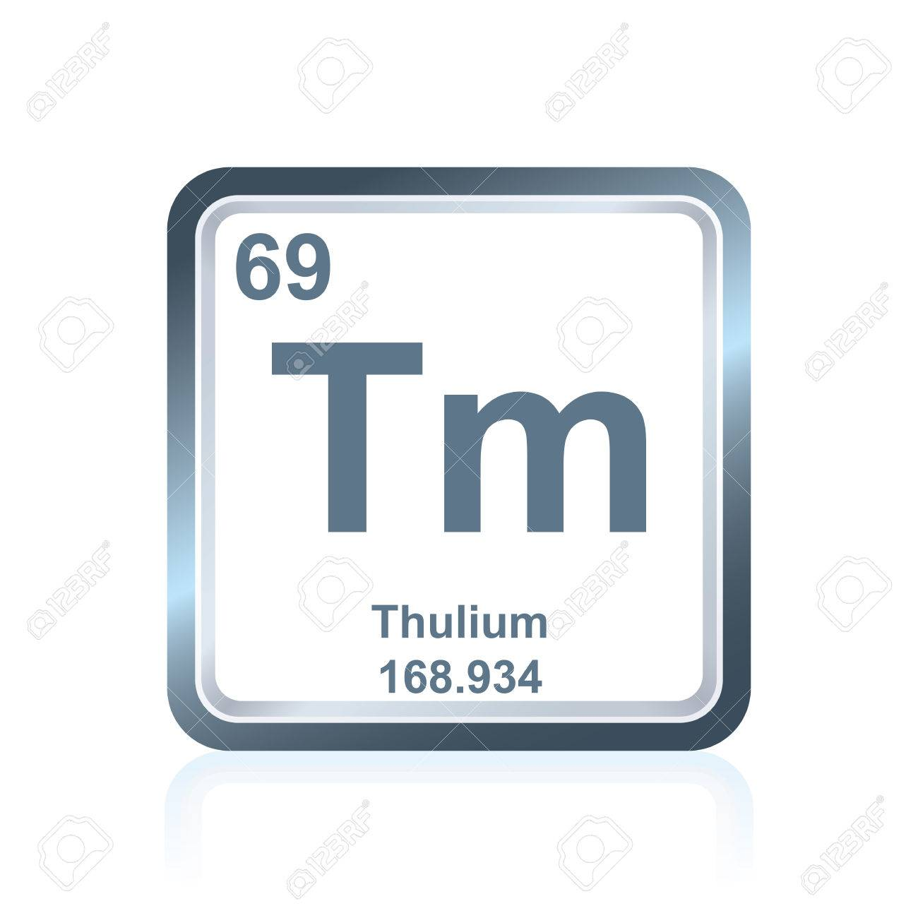 Symbol of chemical element thulium as seen on the periodic table symbol of chemical element thulium as seen on the periodic table of the elements including urtaz
