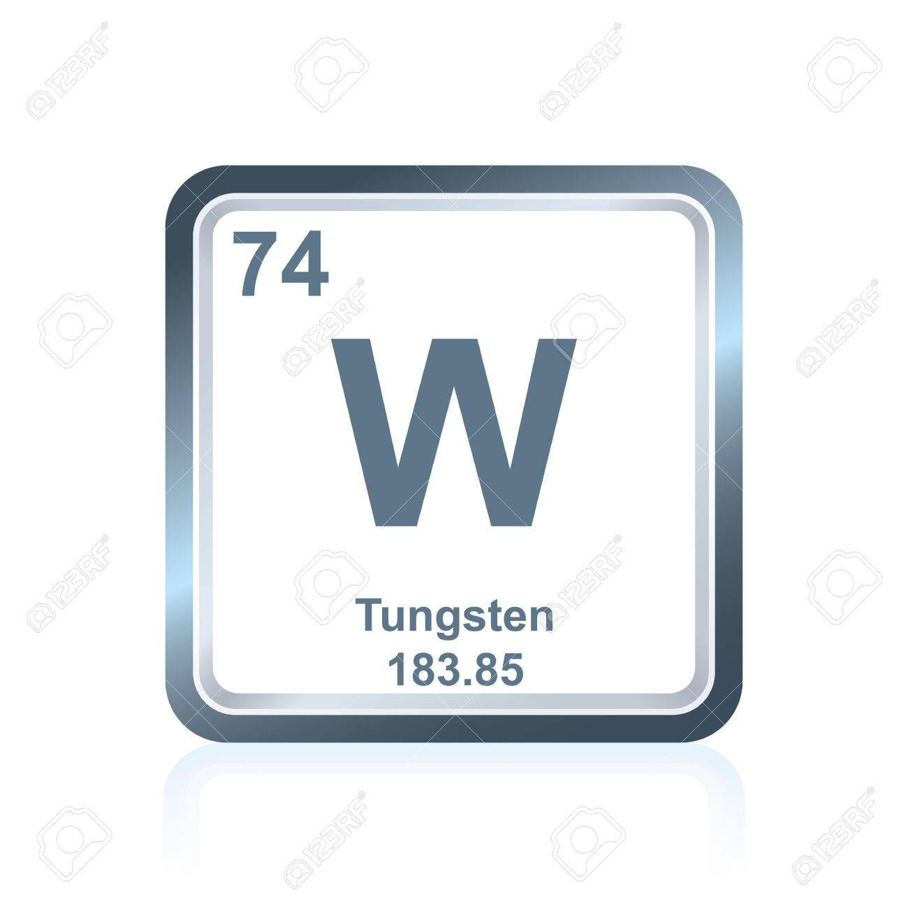 Symbol of chemical element tungsten as seen on the periodic table symbol of chemical element tungsten as seen on the periodic table of the elements including urtaz Image collections