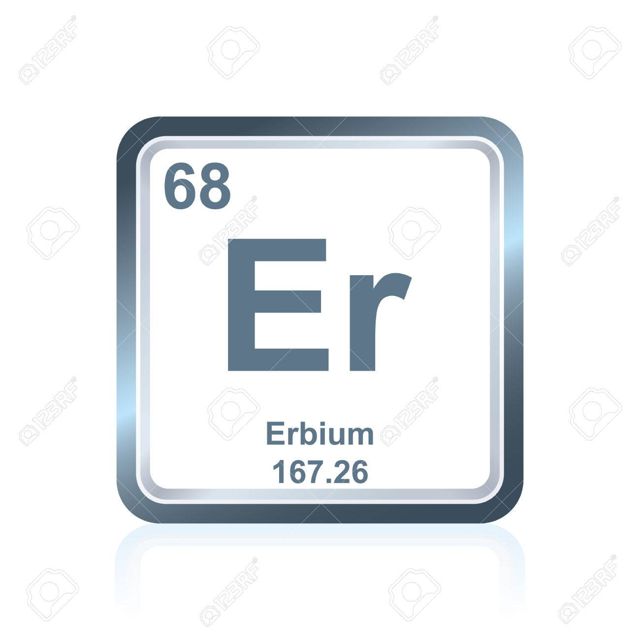 Symbol Of Chemical Element Erbium As Seen On The Periodic Table