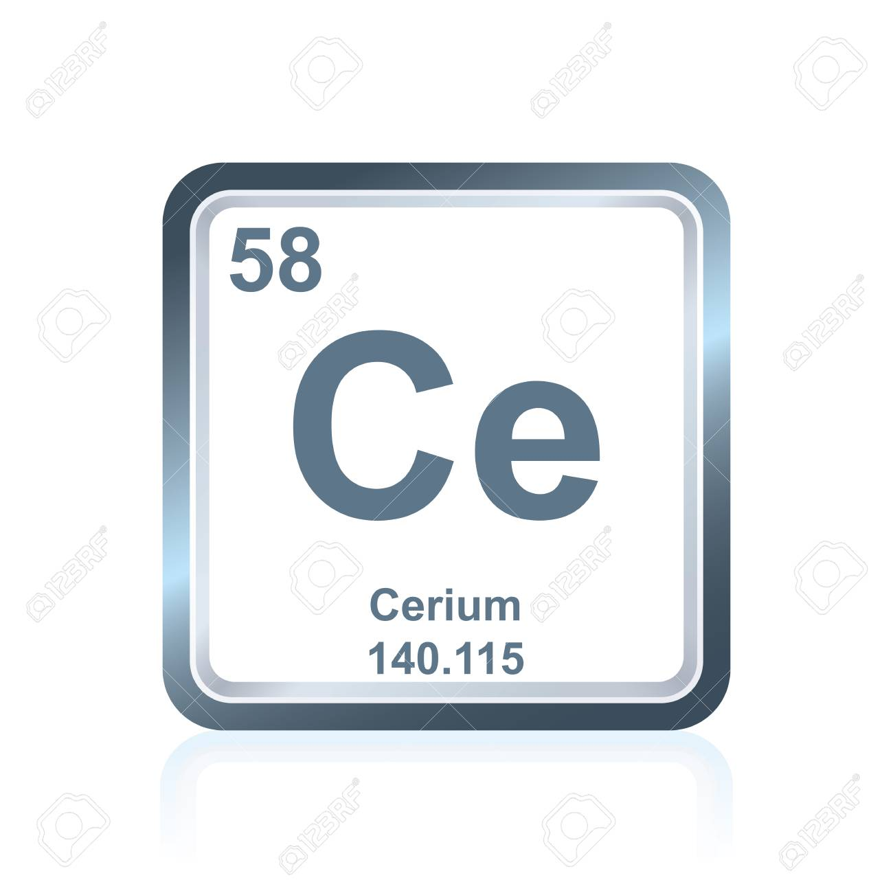 Symbol of chemical element cerium as seen on the periodic table symbol of chemical element cerium as seen on the periodic table of the elements including urtaz Image collections