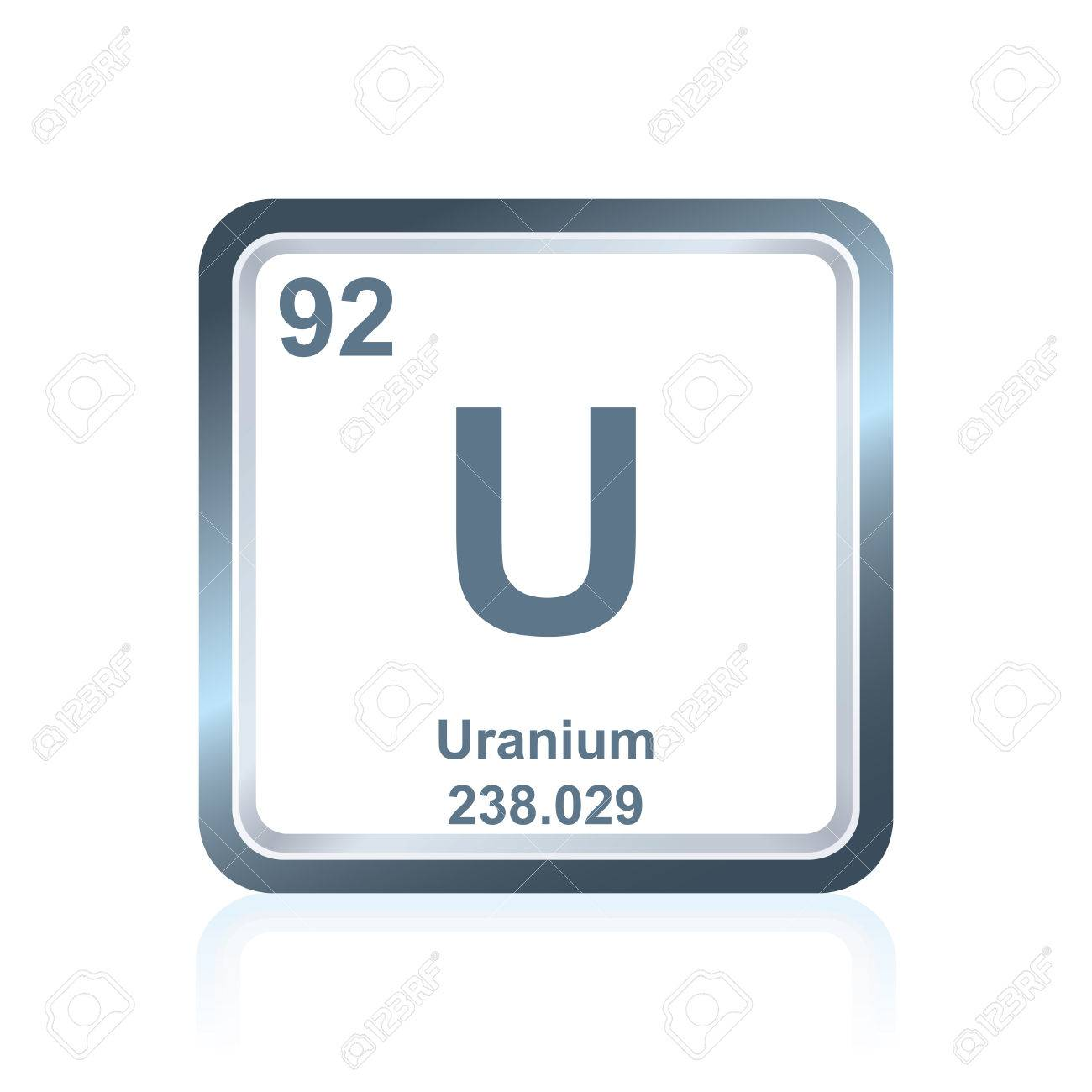 Symbol of chemical element uranium as seen on the periodic table symbol of chemical element uranium as seen on the periodic table of the elements including urtaz Choice Image