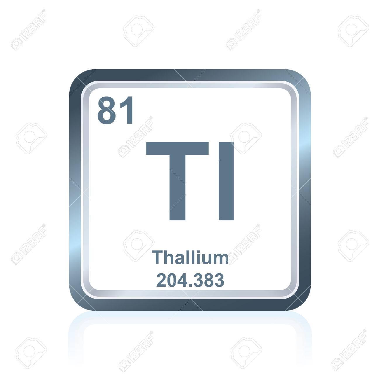 Symbol of chemical element thallium as seen on the periodic table symbol of chemical element thallium as seen on the periodic table of the elements including urtaz Choice Image